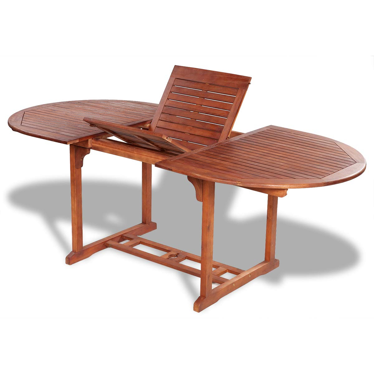 Amazon: Vidaxl Solid Acacia Wood Outdoor Dining Table Throughout Latest Solid Acacia Wood Dining Tables (View 10 of 25)