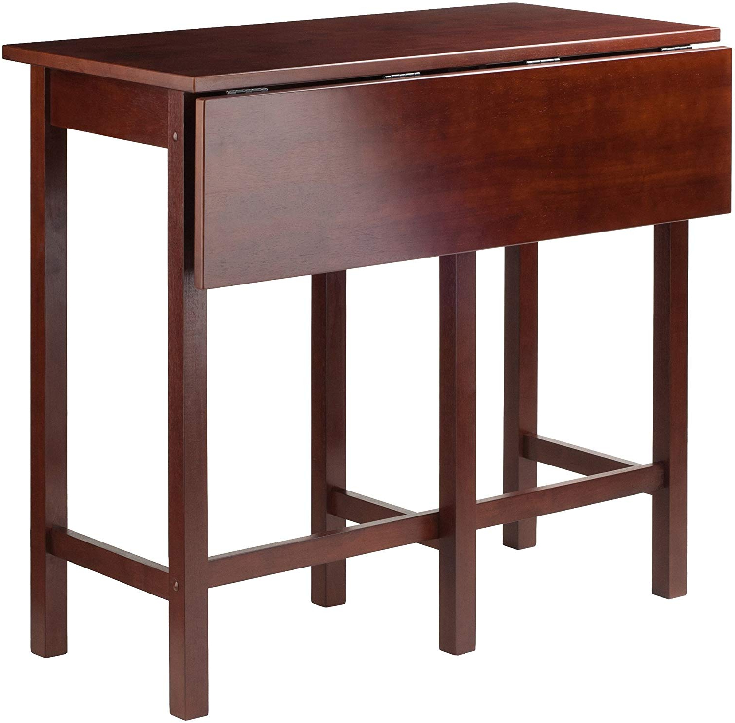 Amazon – Winsome Lynnwood Dining, Walnut – Tables In Most Up To Date Distressed Walnut And Black Finish Wood Modern Country Dining Tables (View 16 of 25)
