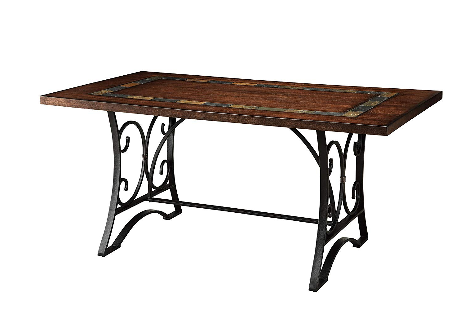 Antique Black Wood Kitchen Dining Tables For 2020 Acme Hakesa Cherry And Antique Black Dining Table (View 11 of 25)
