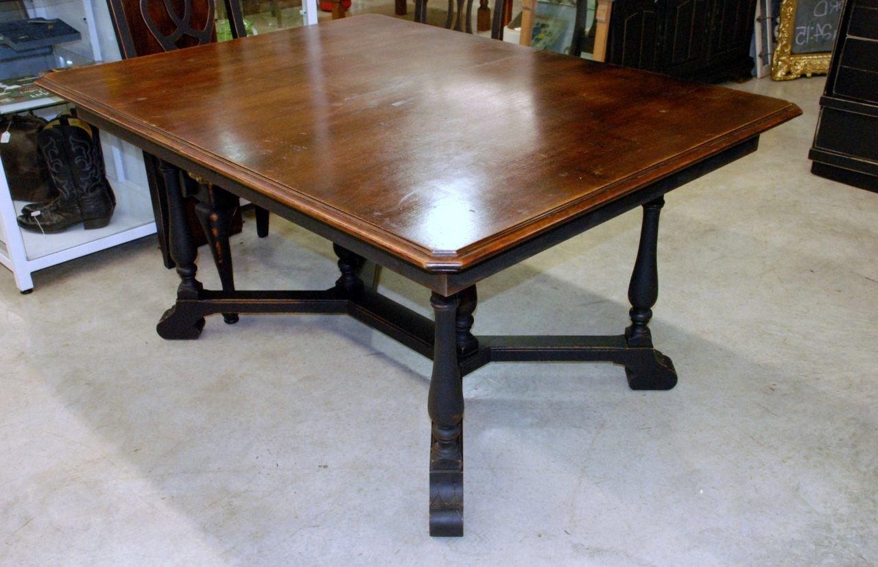 Antique Table Style: Waterhouse Market: Antique Black Dining In Favorite Antique Black Wood Kitchen Dining Tables (View 5 of 25)