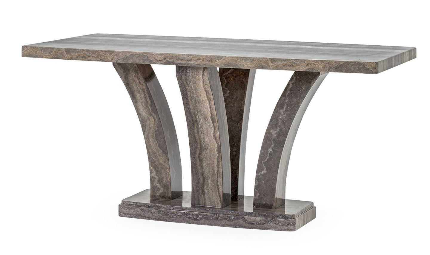 Aquila High Gloss Pearl Grey Marble Medium Dining Table 18Vd47 Intended For Famous Medium Dining Tables (View 21 of 25)