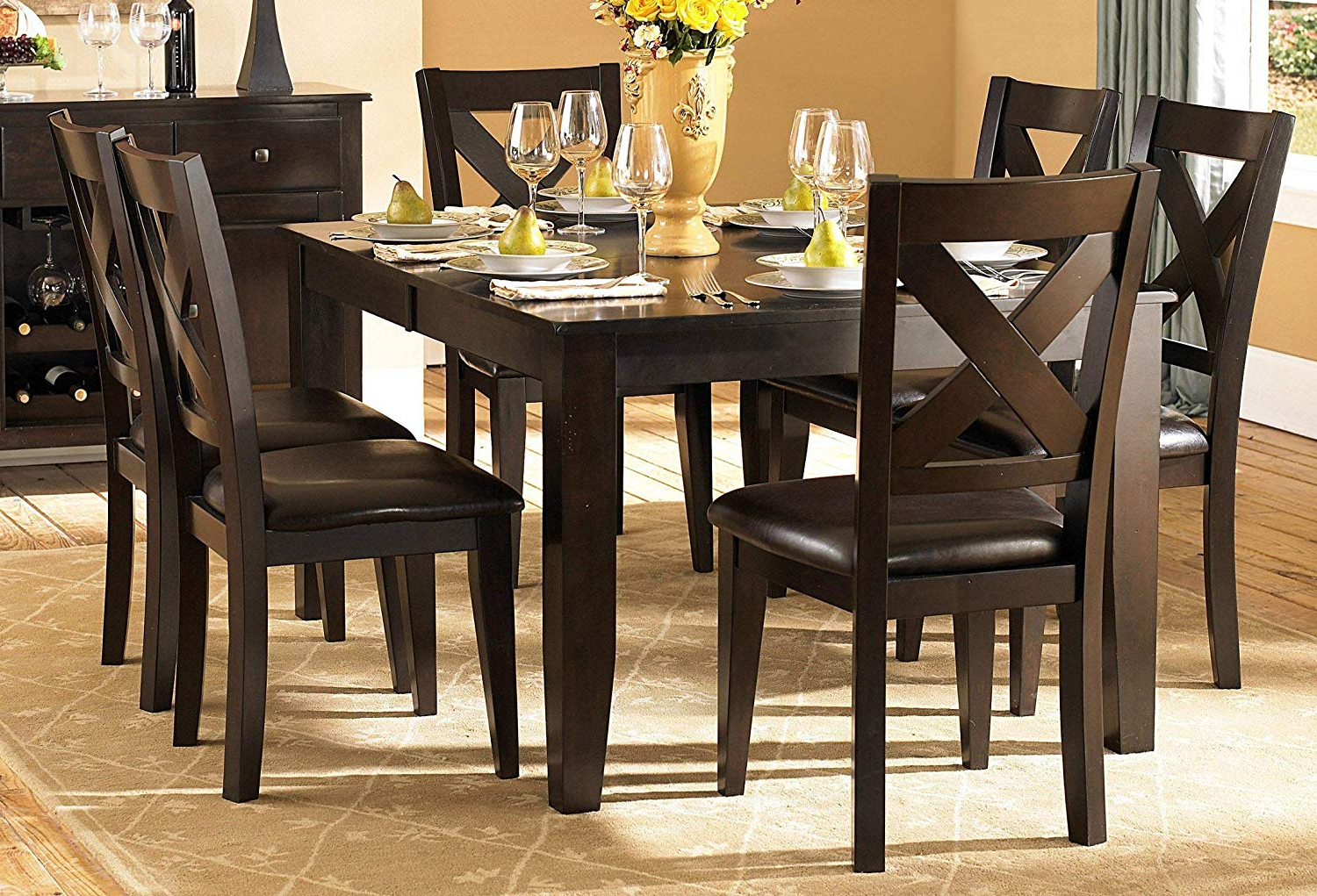 Artefac Contemporary Casual Dining Tables Throughout 2020 Amazon – Creekmore Casual Modern 8Pc Dining Set Table,  (View 10 of 25)