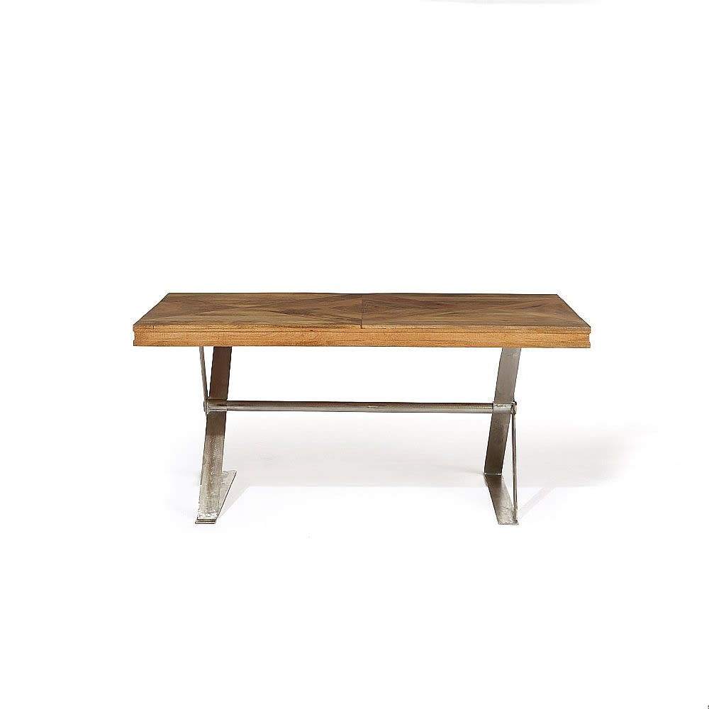 Artisan Mango Wood X Leg Dining Table With Most Up To Date Iron Dining Tables With Mango Wood (View 8 of 25)