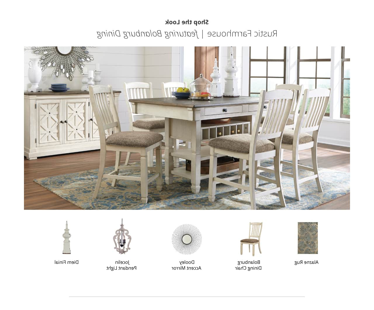 Ashley Furniture Homestore Within Rustic Country 8 Seating Casual Dining Tables (View 11 of 25)