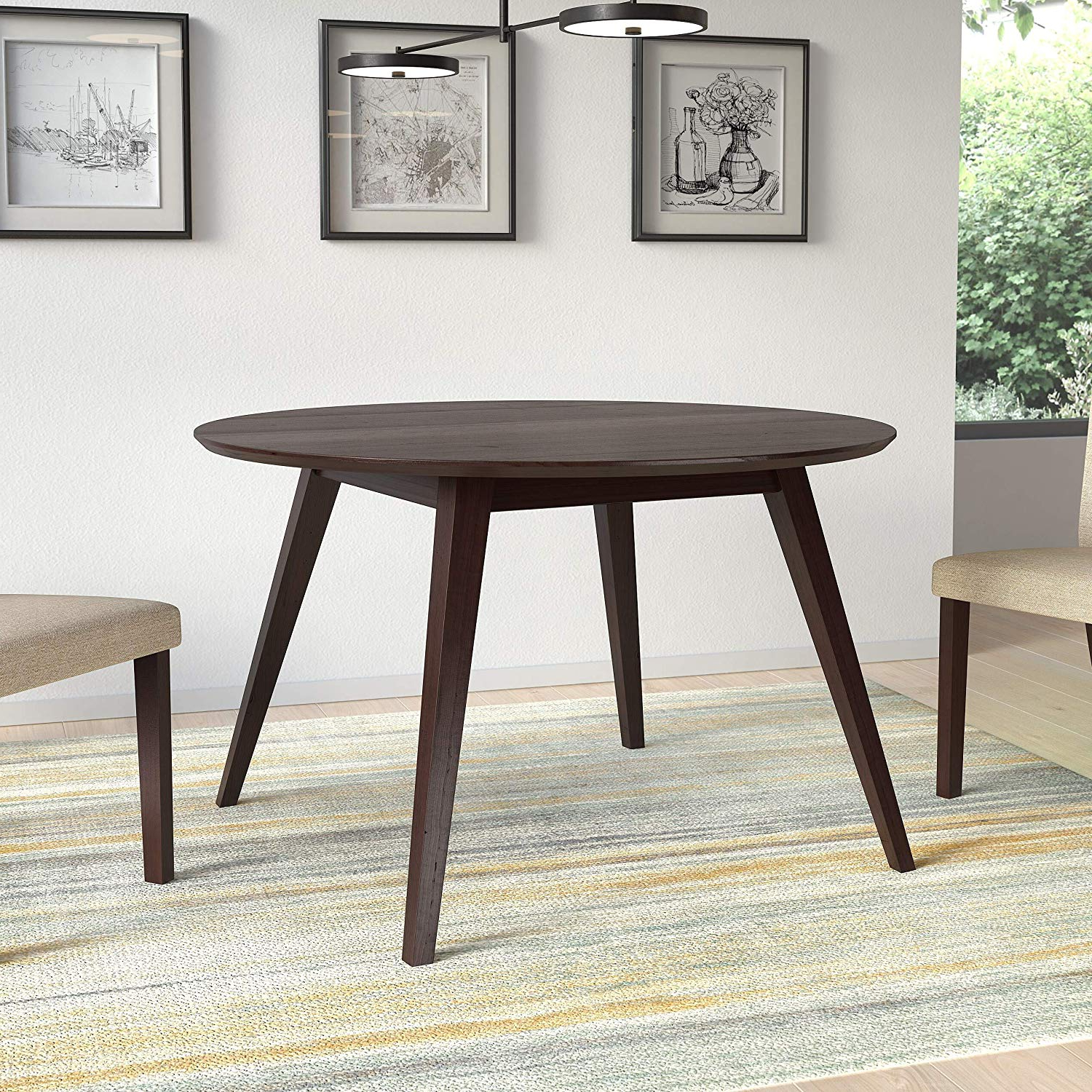 Atwood Transitional Rectangular Dining Tables For Most Popular Amazon – Corliving Atwood Round Dining Table In (View 14 of 25)