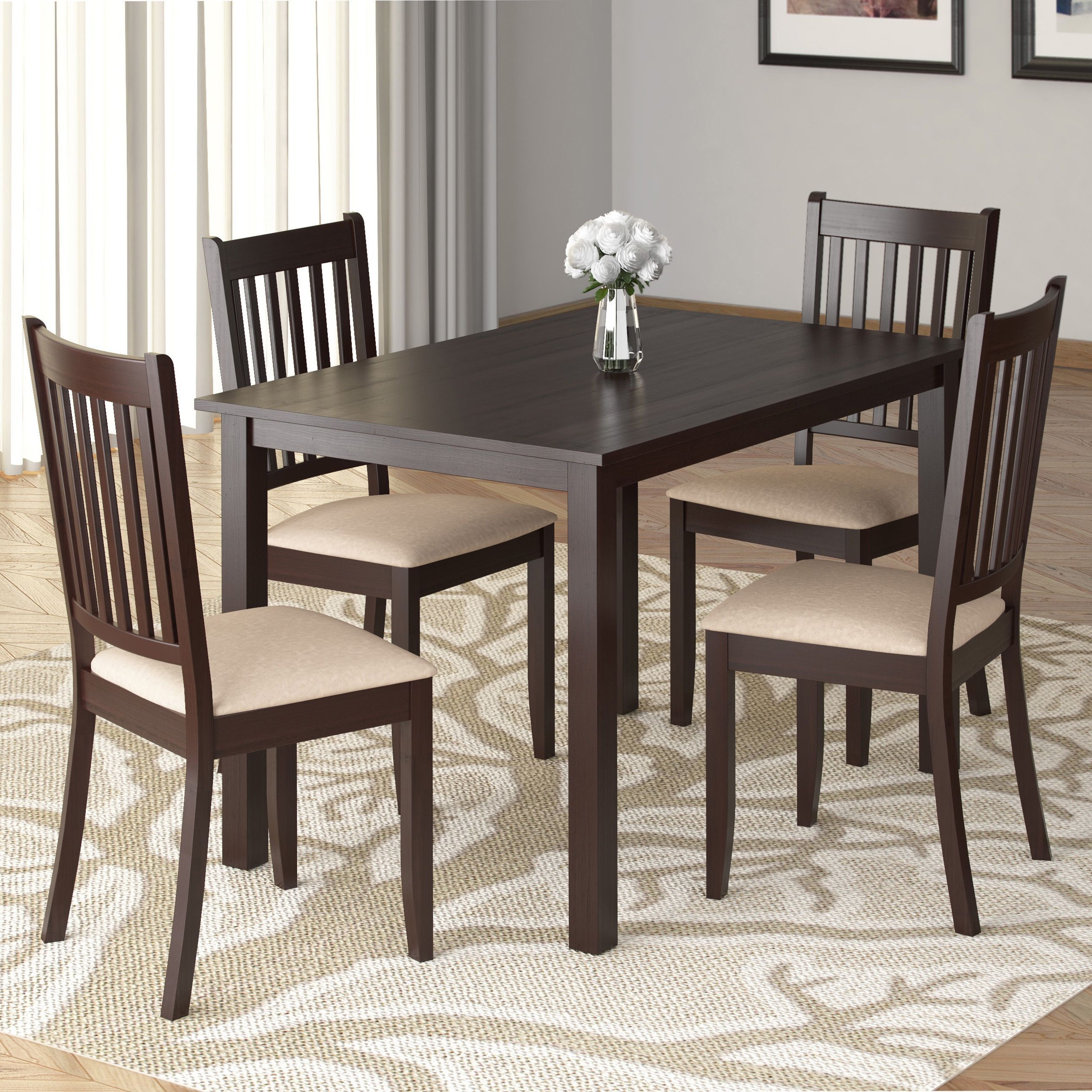 Atwood Transitional Rectangular Dining Tables In Most Up To Date Corliving Atwood 43 Inch Wide Cappuccino Stained Dining (View 11 of 25)