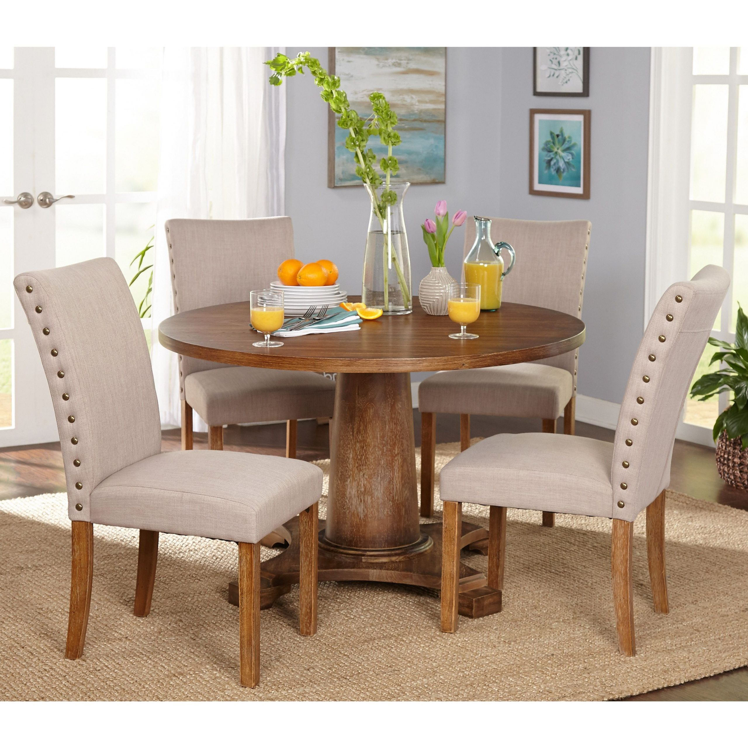 Atwood Transitional Rectangular Dining Tables With Latest Simple Living 5 Piece Atwood Dining Set (5 Piece Dining Set (View 7 of 25)