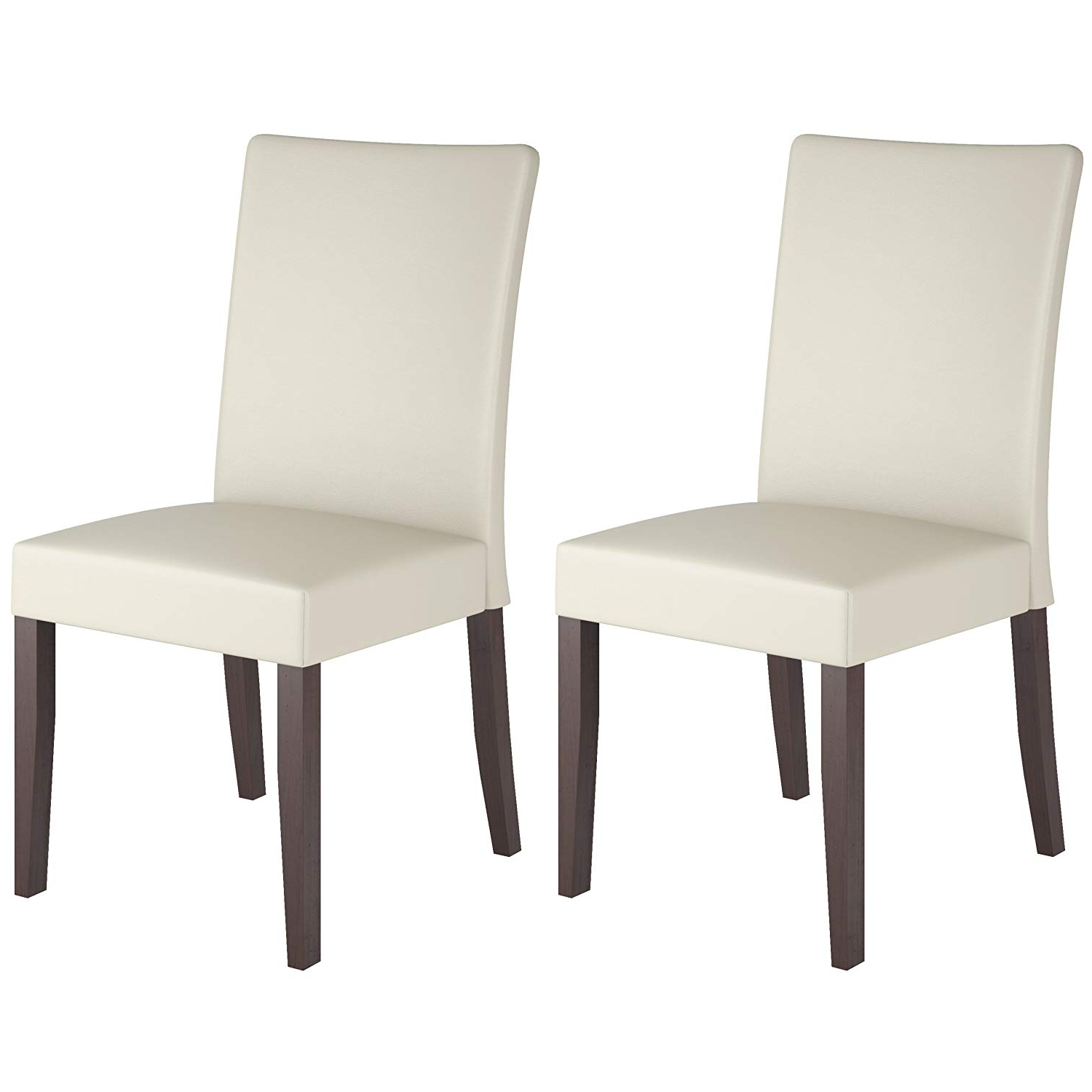 Atwood Transitional Square Dining Tables For Most Current Corliving Atwood Dining Chairs, Small, Cream (View 19 of 25)