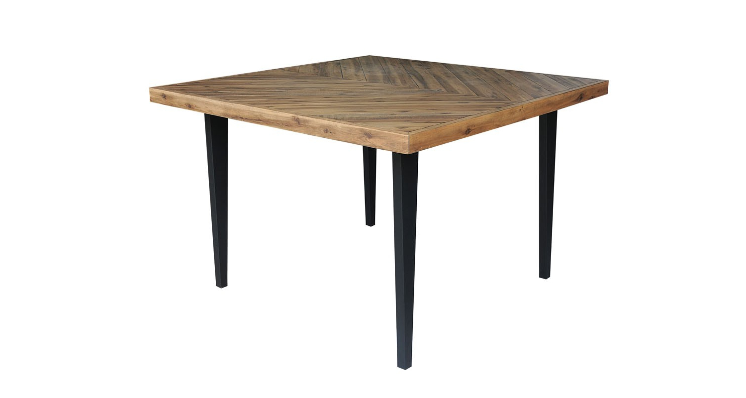Avalon Square Counter Height Dining Table Acacia Top/metal Intended For 2019 Acacia Dining Tables With Black Legs (View 11 of 25)