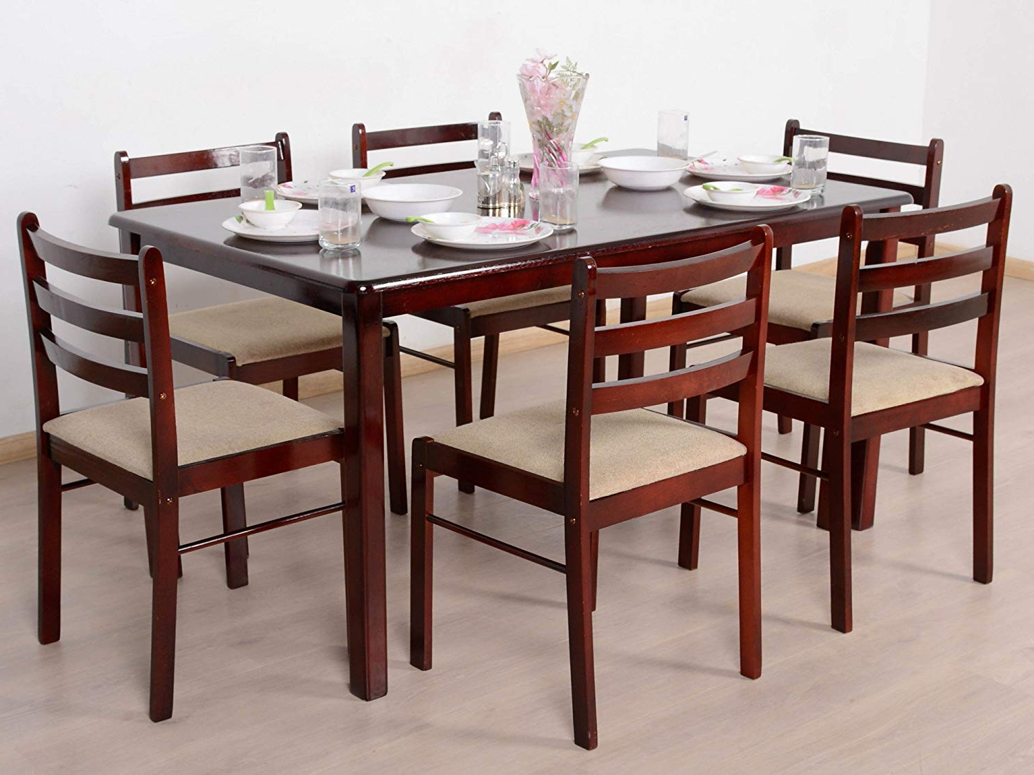 Best And Newest 6 Seater Retangular Wood Contemporary Dining Tables With Regard To T2A Javint Six Seater Contemporary Solid Wood Dining Table (View 9 of 25)