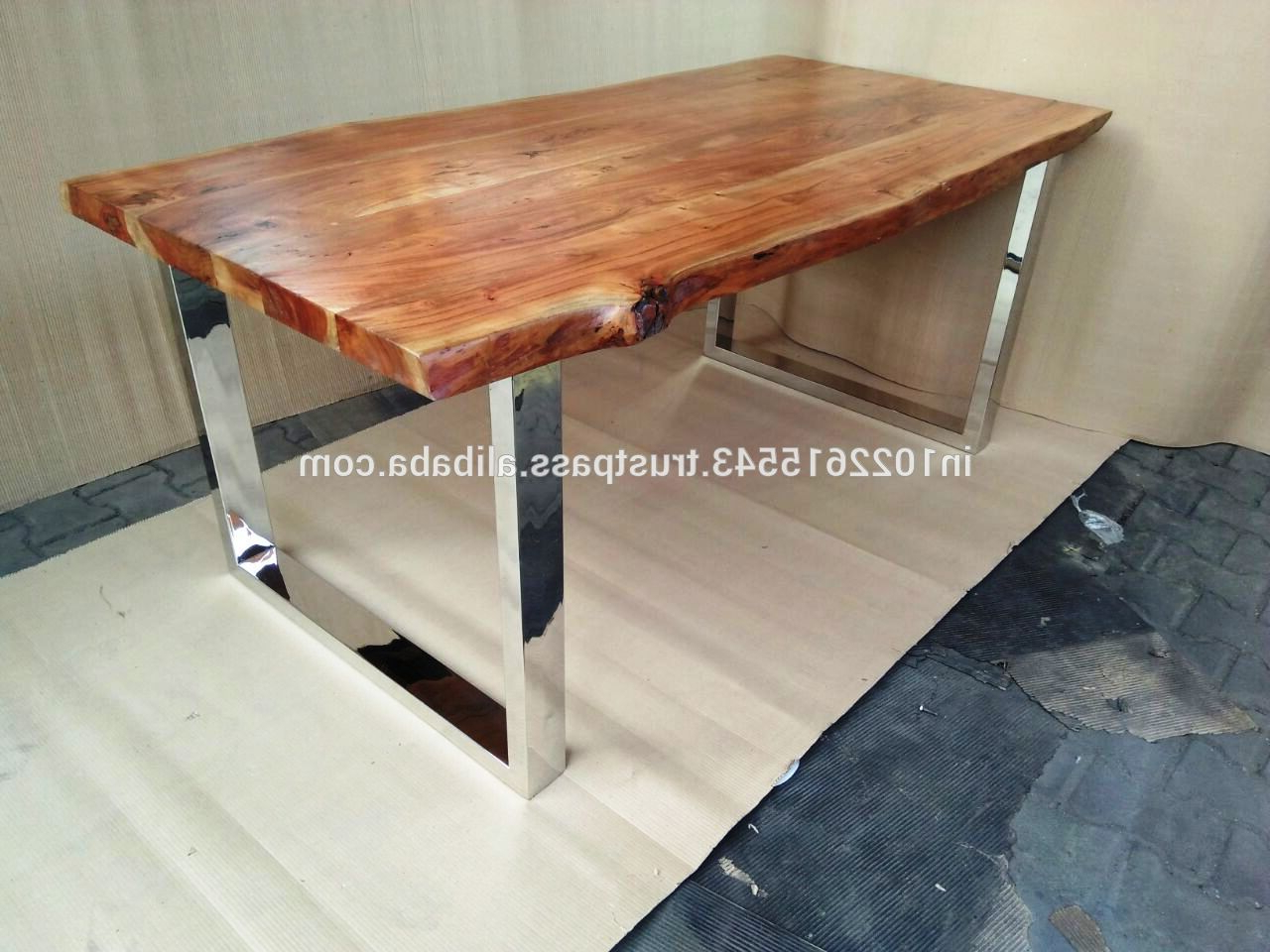 Best And Newest Acacia Top Dining Tables With Metal Legs Throughout Acacia Wood Live Edge Dining Table,live Edge Wood Dining Table – Buy Acacia  Wood Live Edge Dining Table,live Edge Wood Furniture,live Edge Wood Slab (View 13 of 25)
