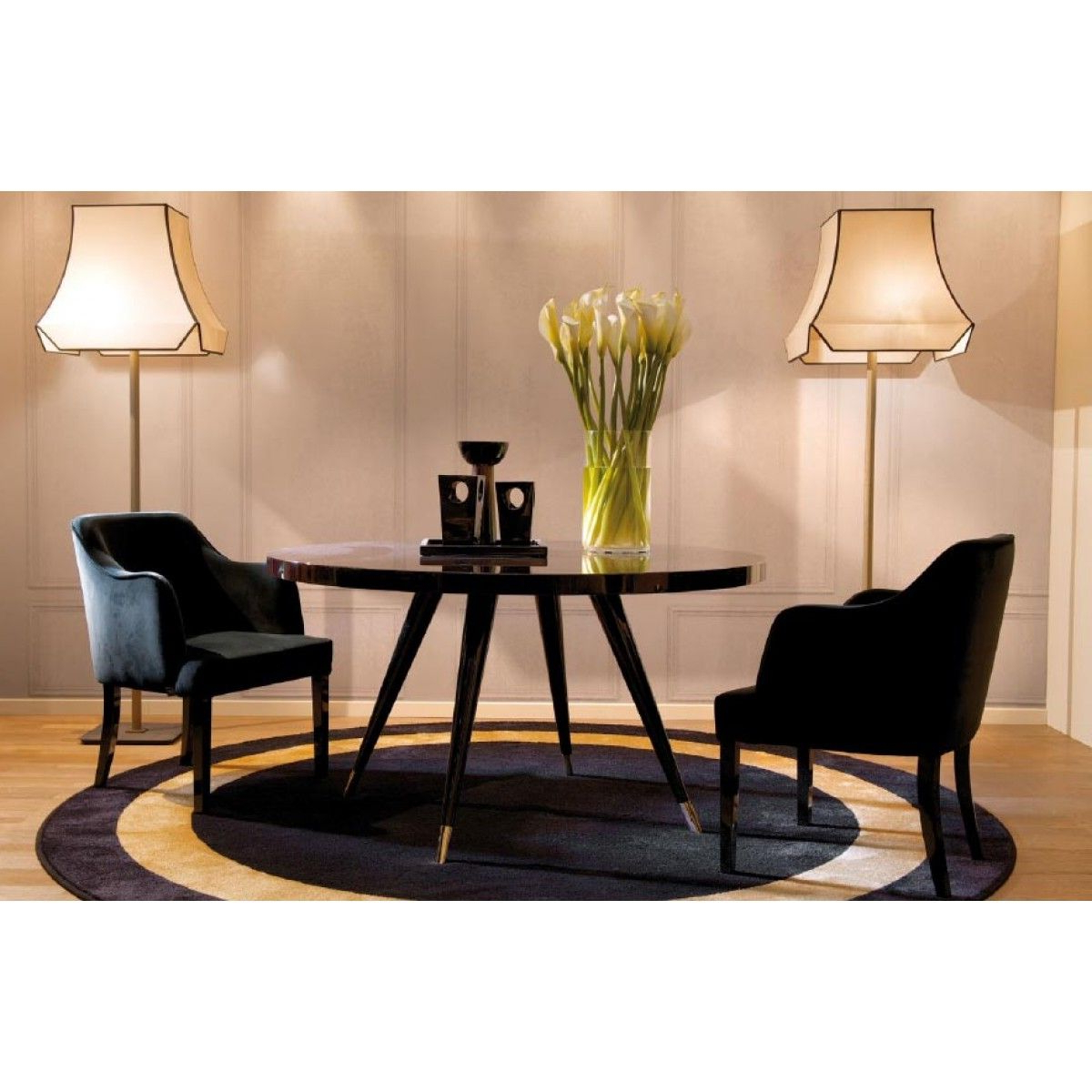 Best and Newest Andrea Round Dining Table. Sleek Design And Italian pertaining to Dom Round Dining Tables