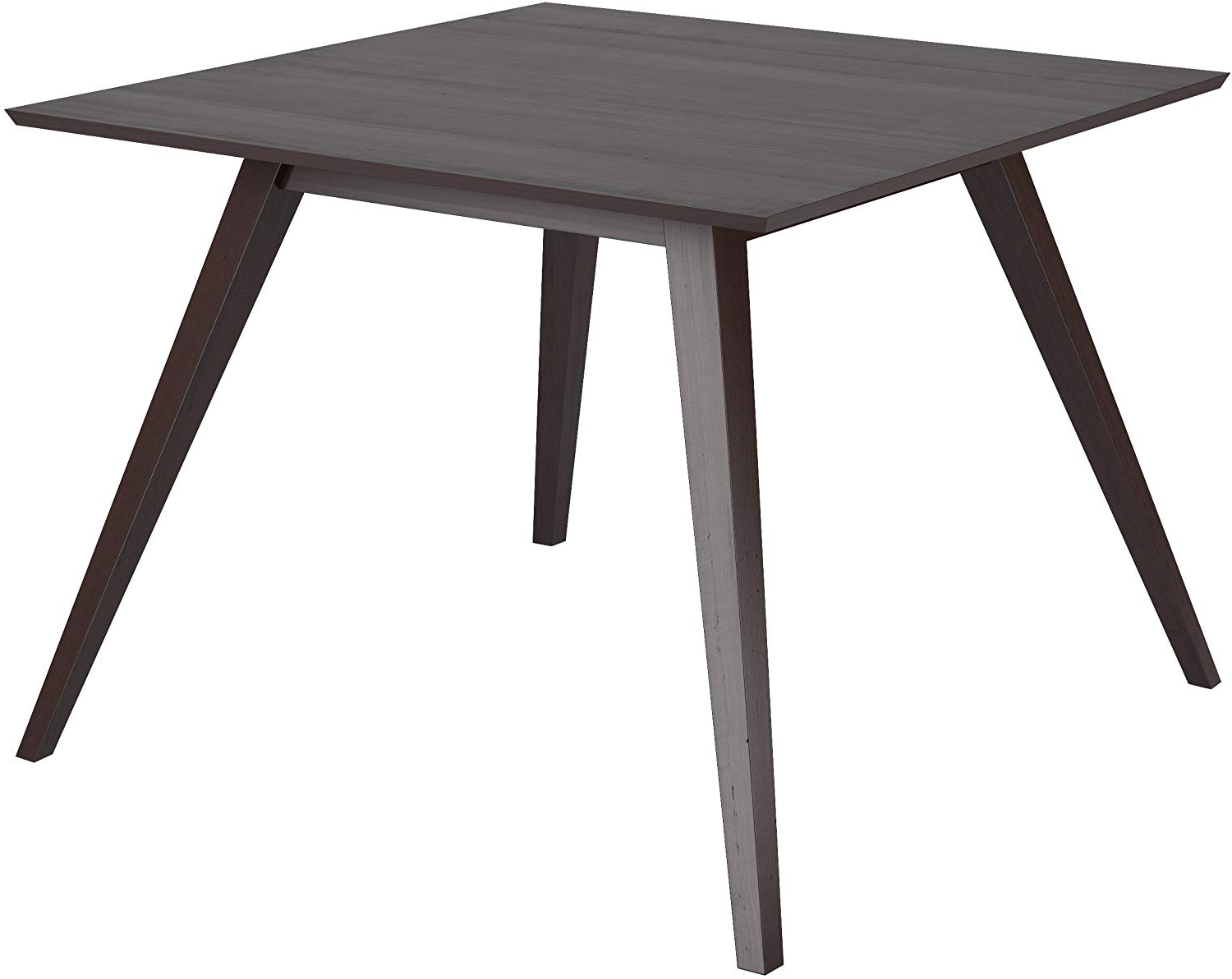 Best and Newest Atwood Transitional Square Dining Tables in Corliving Atwood Dining Set, Dark Brown