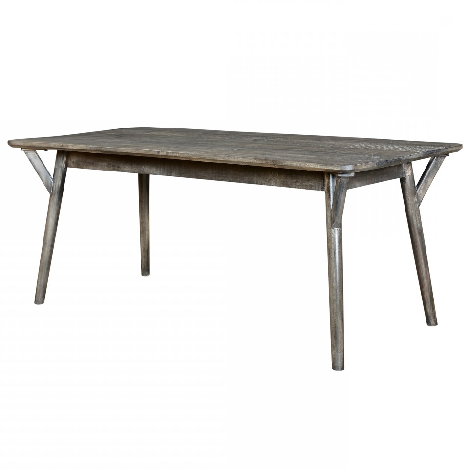 Best and Newest Distressed Grey Finish Wood Classic Design Dining Tables regarding Mira Rectangular Dining Table In Distressed Grey