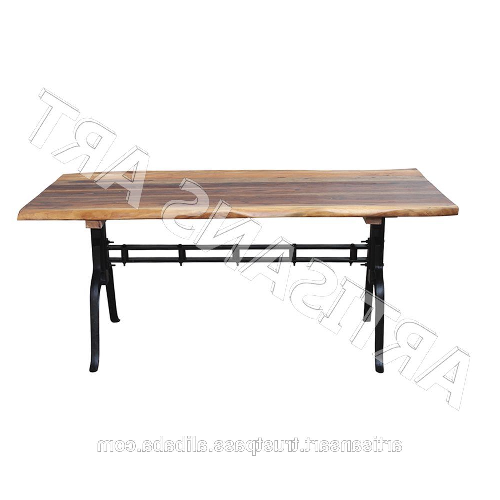 Best and Newest Industrial Live Edge Iron Base Dining Table,solid Wood Slab Dining  Table,acacia Wood Dining Table Manufacturer - Buy Live Edge Modern Dining with Acacia Wood Dining Tables With Sheet Metal Base
