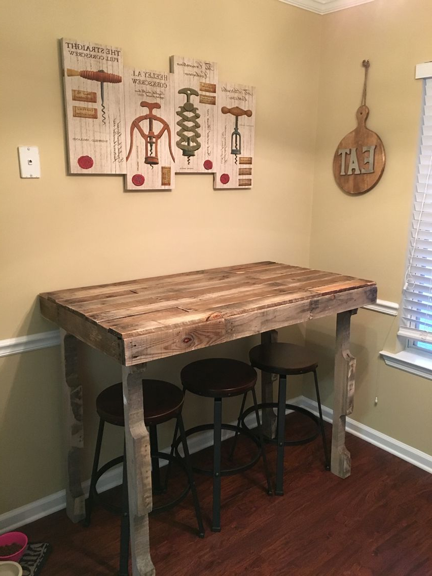 Best and Newest Kitchen Bar Height Table For The Rustic Farmhouse Style pertaining to Small Rustic Look Dining Tables