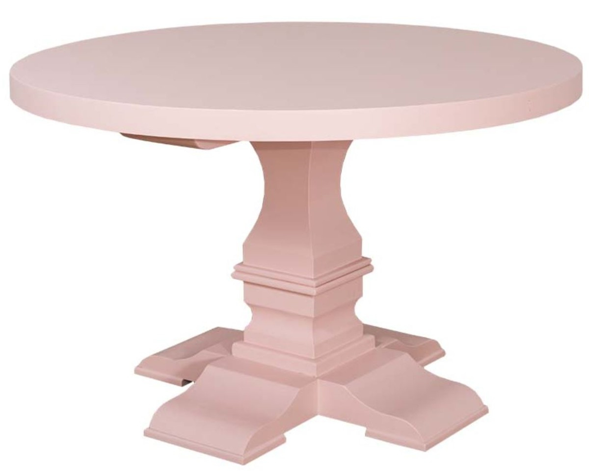 Best and Newest Neo Round Dining Tables within Casa Padrino Country Style Dining Table Round Light Pink