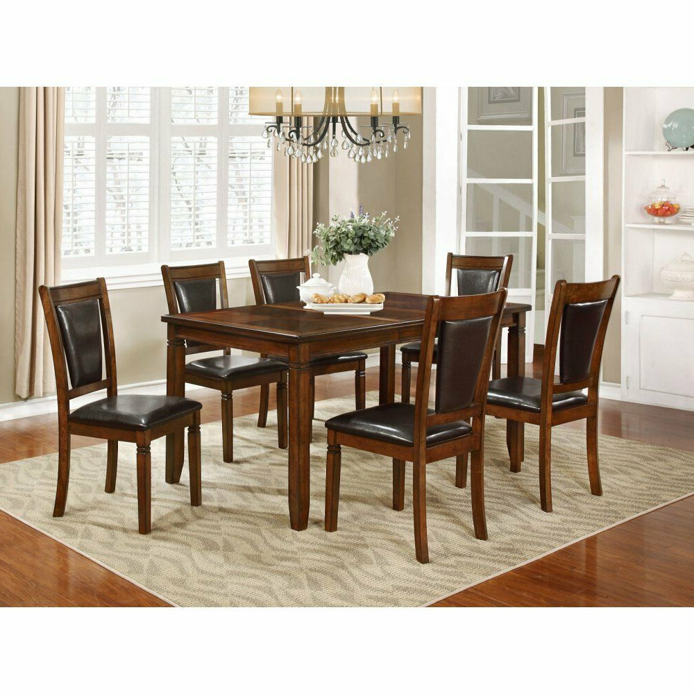 Best and Newest Nh Designs 7 Piece Formal Transitional Dining Table Set intended for Transitional 4-Seating Drop Leaf Casual Dining Tables