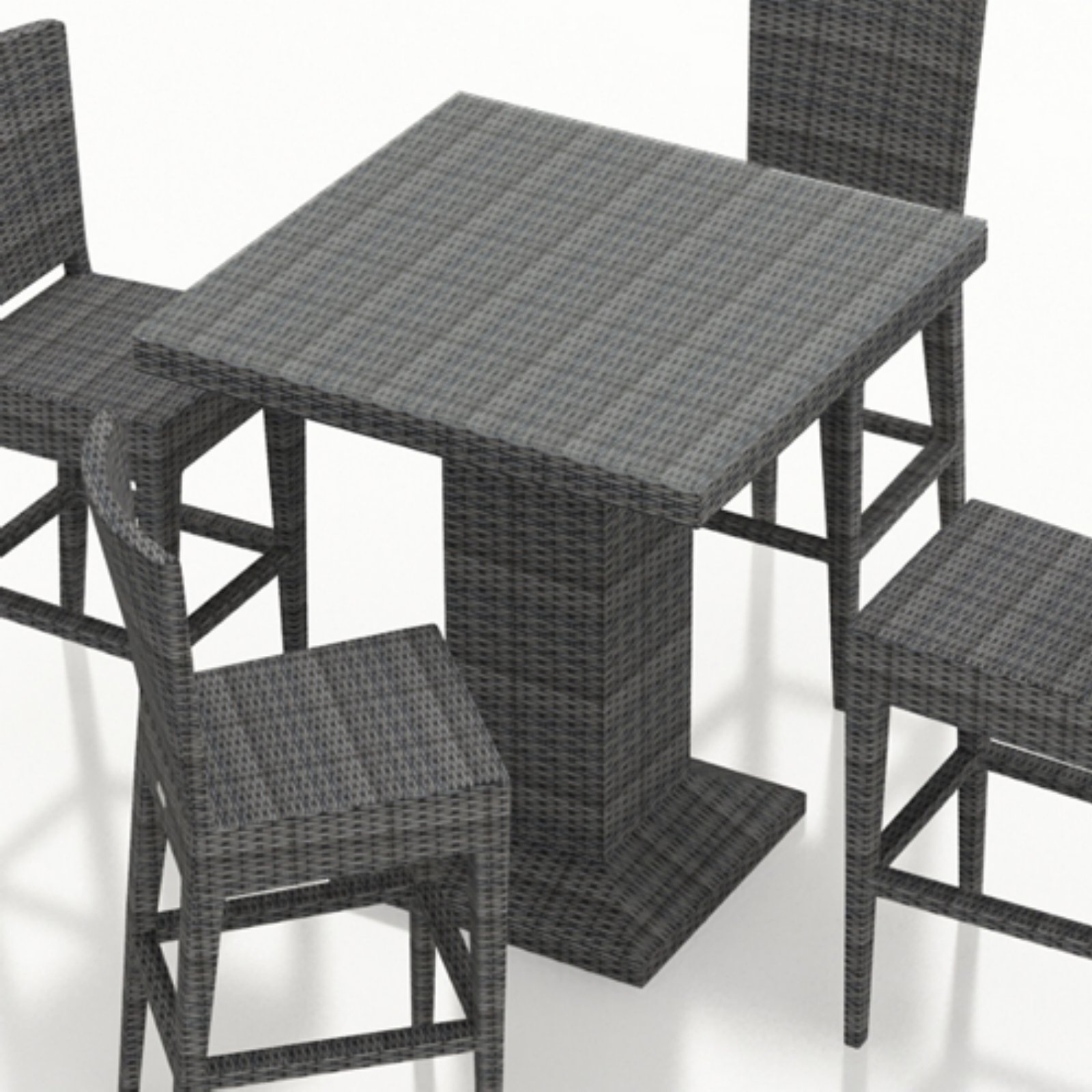 Best And Newest Patio Square Bar Dining Tables Throughout Outdoor Harmonia Living District Resin Wicker Square Bar (View 20 of 25)