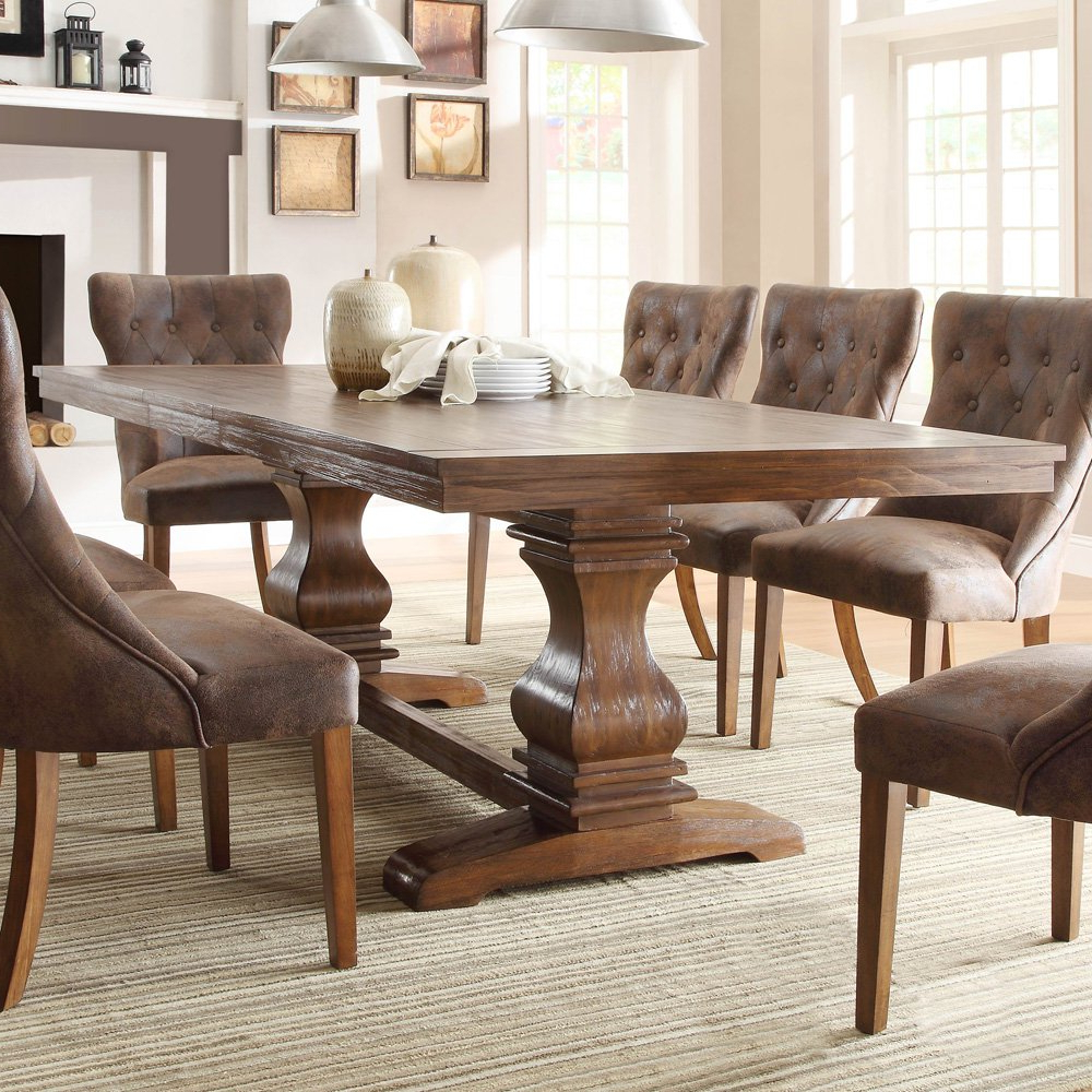 Best And Newest Rustic Chairs For Dining Room – Kallekoponen With Regard To Large Rustic Look Dining Tables (View 7 of 25)