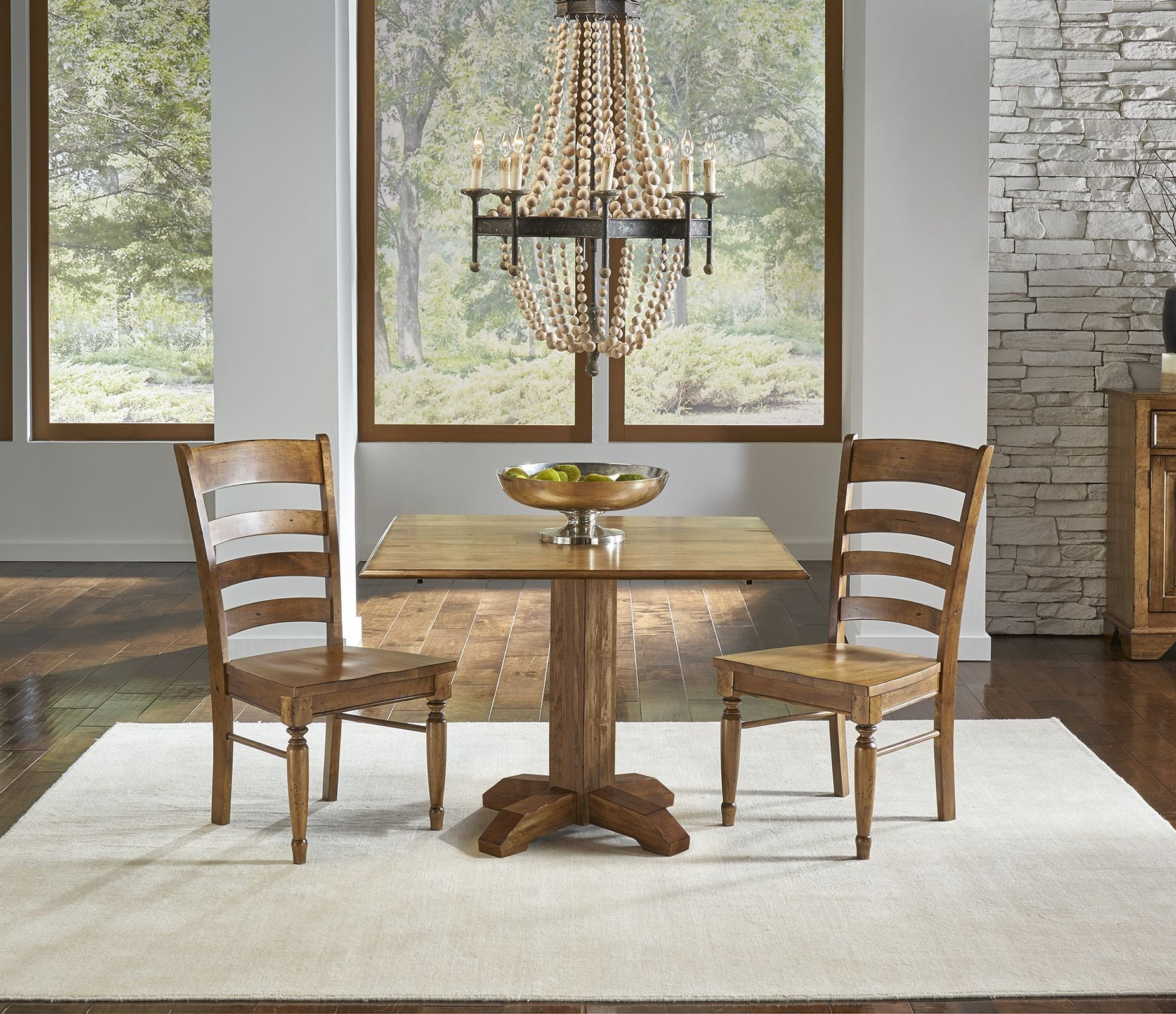 "Best and Newest Transitional 4-Seating Double Drop Leaf Casual Dining Tables in Bennett Smoky Quartz 42"" Drop Leaf Square Dining Table"