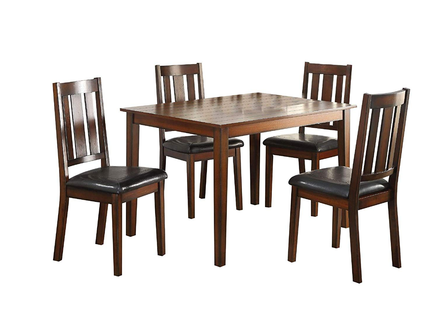 Best And Newest Transitional 4 Seating Square Casual Dining Tables Inside Amazon – Major Q 5Pc Pack Transitional Style Casual (View 2 of 25)