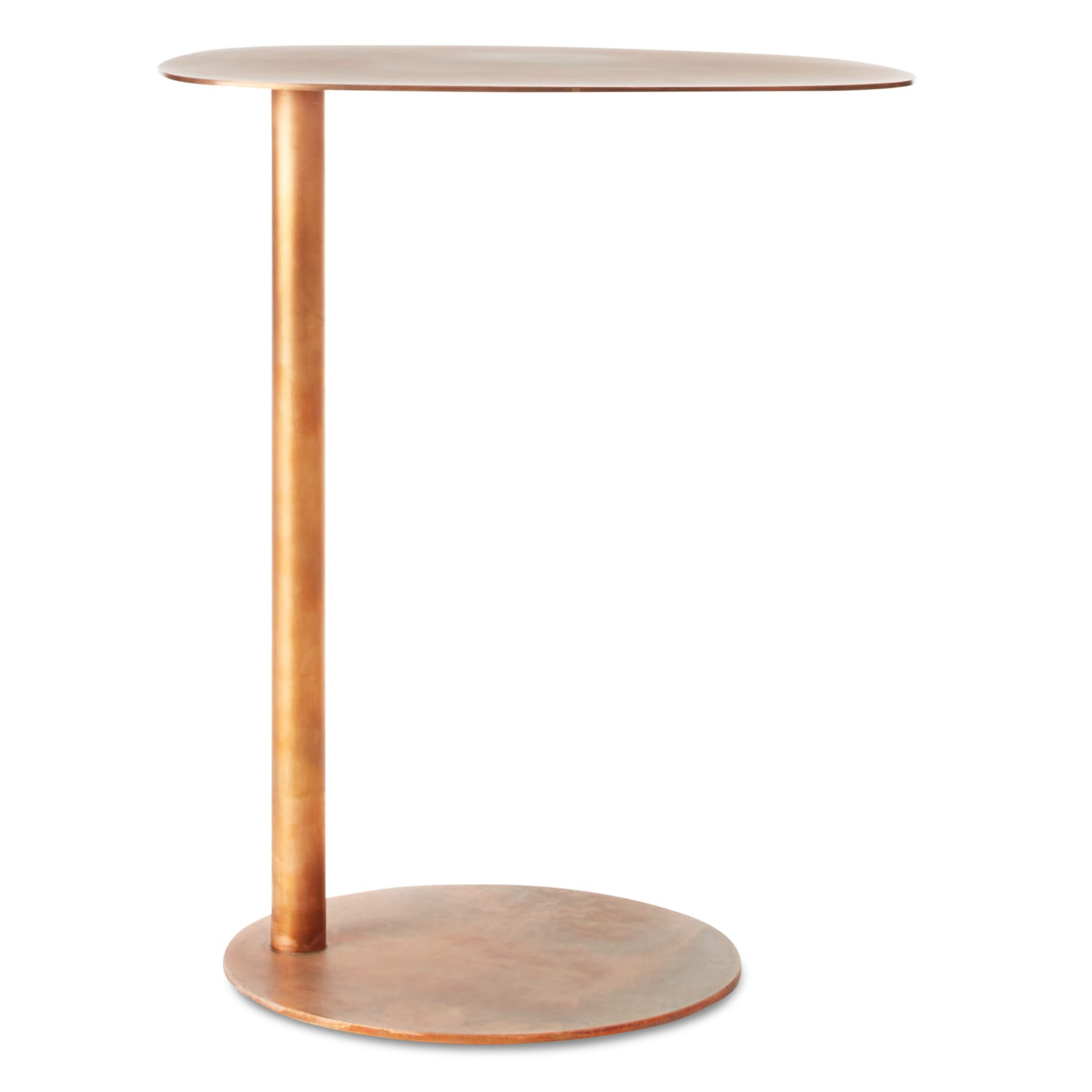 Blu Dot with regard to Recent Black Top  Large Dining Tables With Metal Base Copper Finish