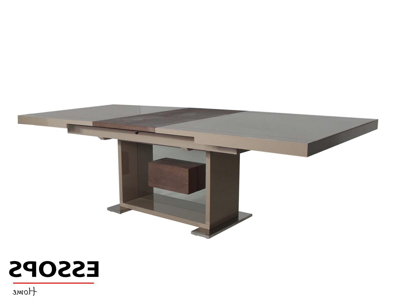 Boston Dining Table Mocca for Most Current Extension Dining Tables