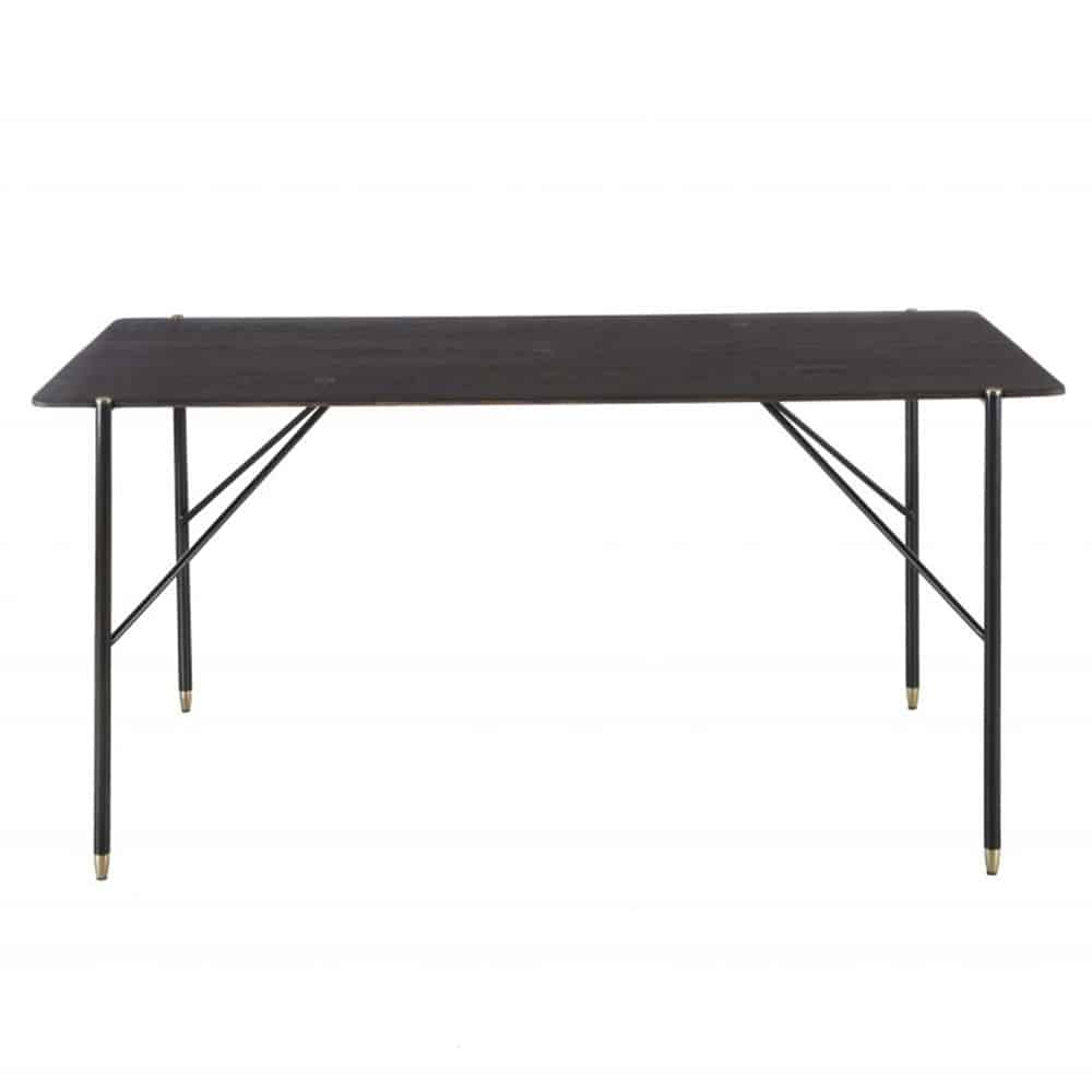 Broughton Dining Table - Di Designs inside Fashionable Dining Tables In Seared Oak With Brass Detail