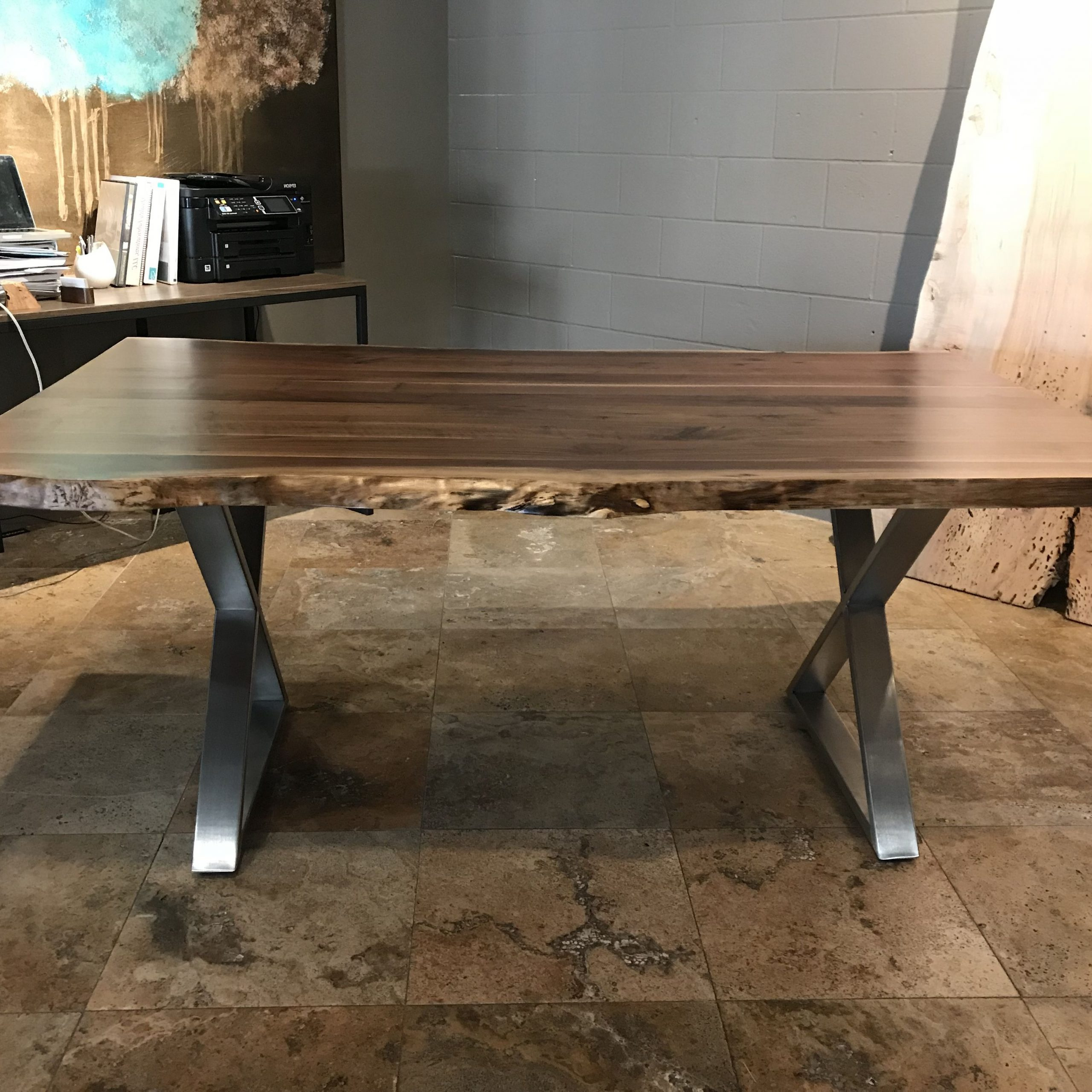 Buy A Custom Live Edge Dining Table, Made To Order From With Regard To Popular Walnut Finish Live Edge Wood Contemporary Dining Tables (View 4 of 25)