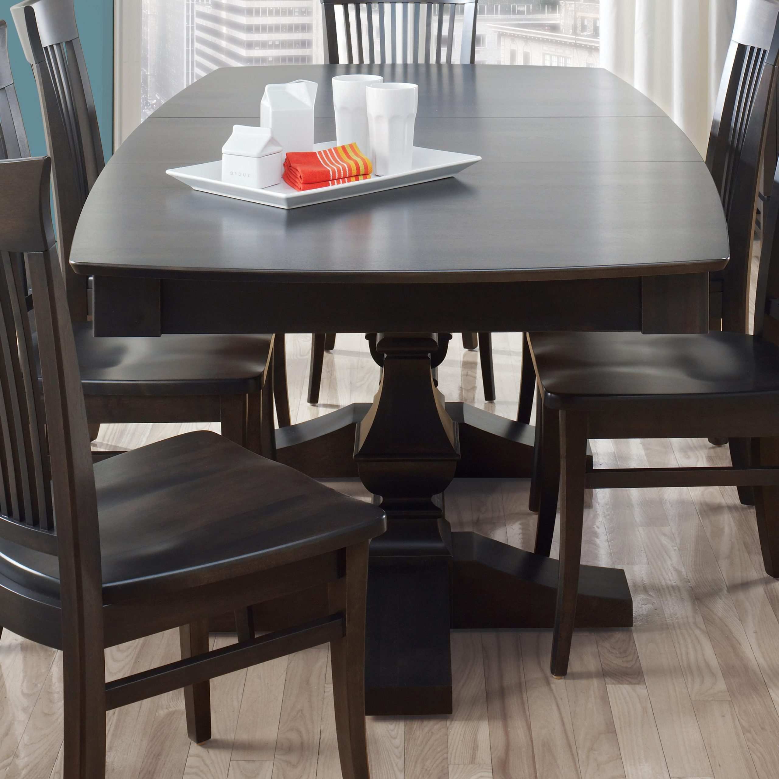 Canadel Custom Dining Customizable Boat Shape Table With With Regard To Widely Used Bistro Transitional 4 Seating Square Dining Tables (View 12 of 24)