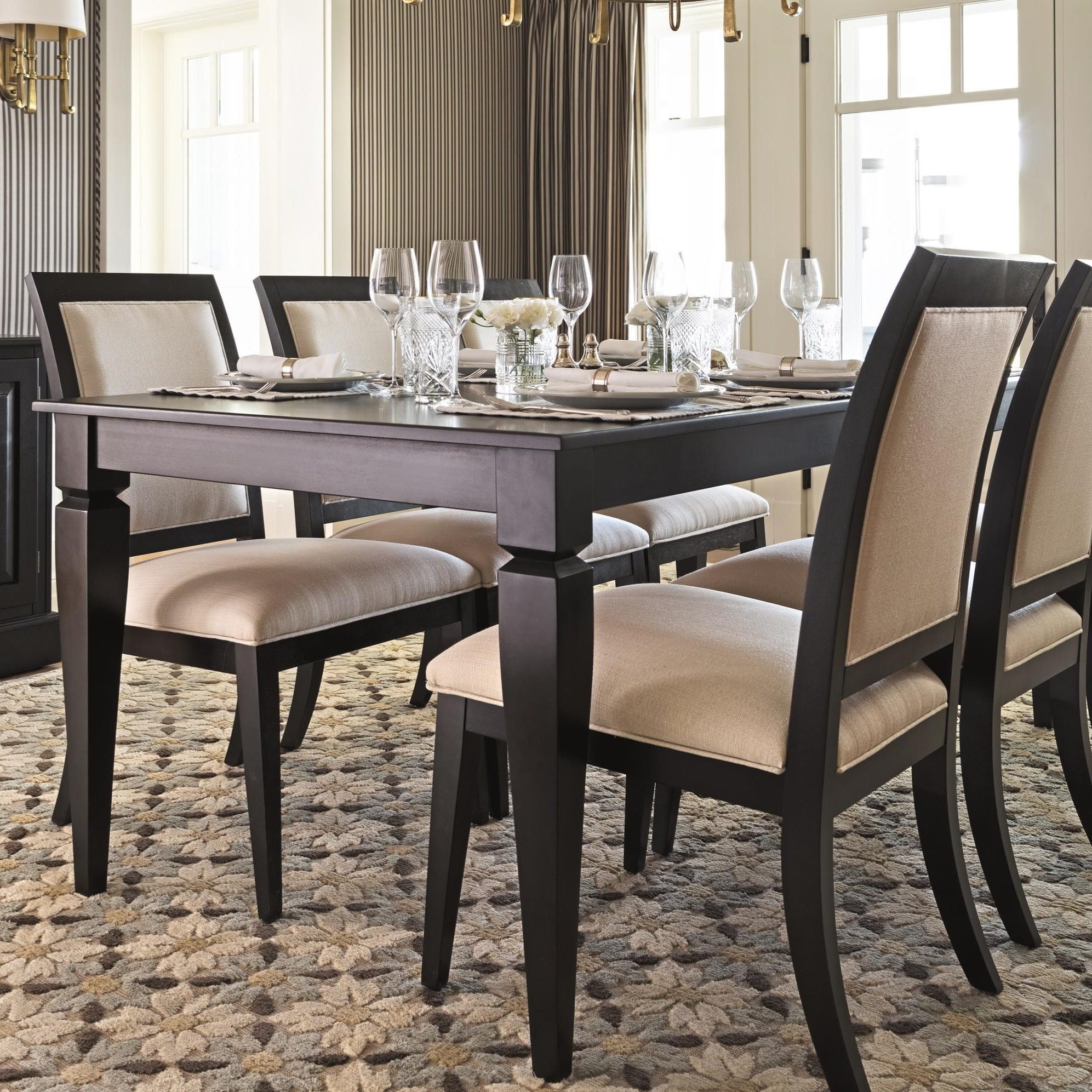 Canadel Custom Dining Customizable Rectangular Dining Table In Trendy Transitional 4 Seating Double Drop Leaf Casual Dining Tables (View 14 of 25)