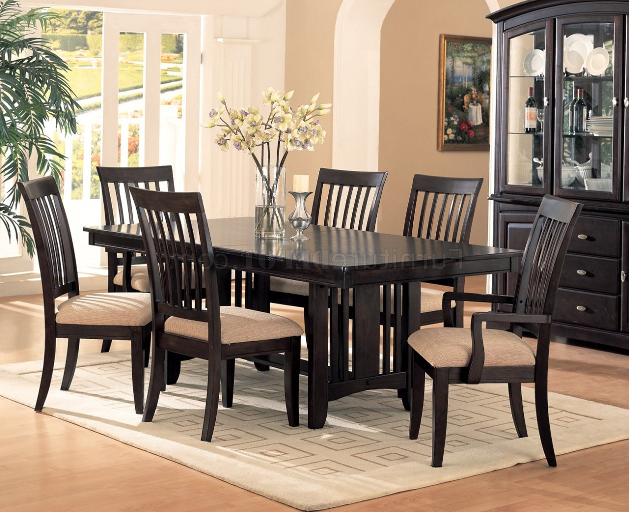 Cappuccino Finish Classic Dining Room Furniture With Regard To 2020 Cappuccino Finish Wood Classic Casual Dining Tables (View 11 of 25)