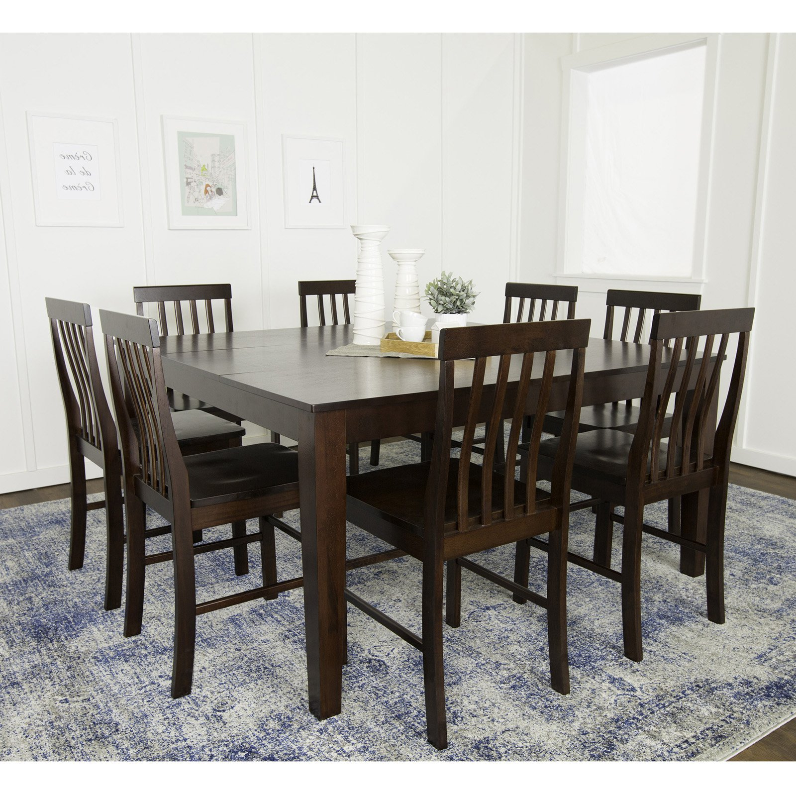 Cappuccino Finish Wood Classic Casual Dining Tables Intended For Well Liked Walker Edison Solid Wood Casual Dining Table – Cappuccino (View 22 of 25)