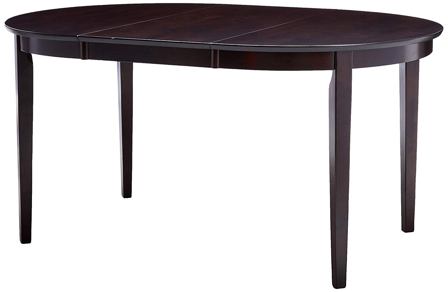 Cappuccino Finish Wood Classic Casual Dining Tables With Regard To Favorite Coaster 100770 Oval Dining Table With Extension Leaf Cappuccino Finish (View 10 of 25)