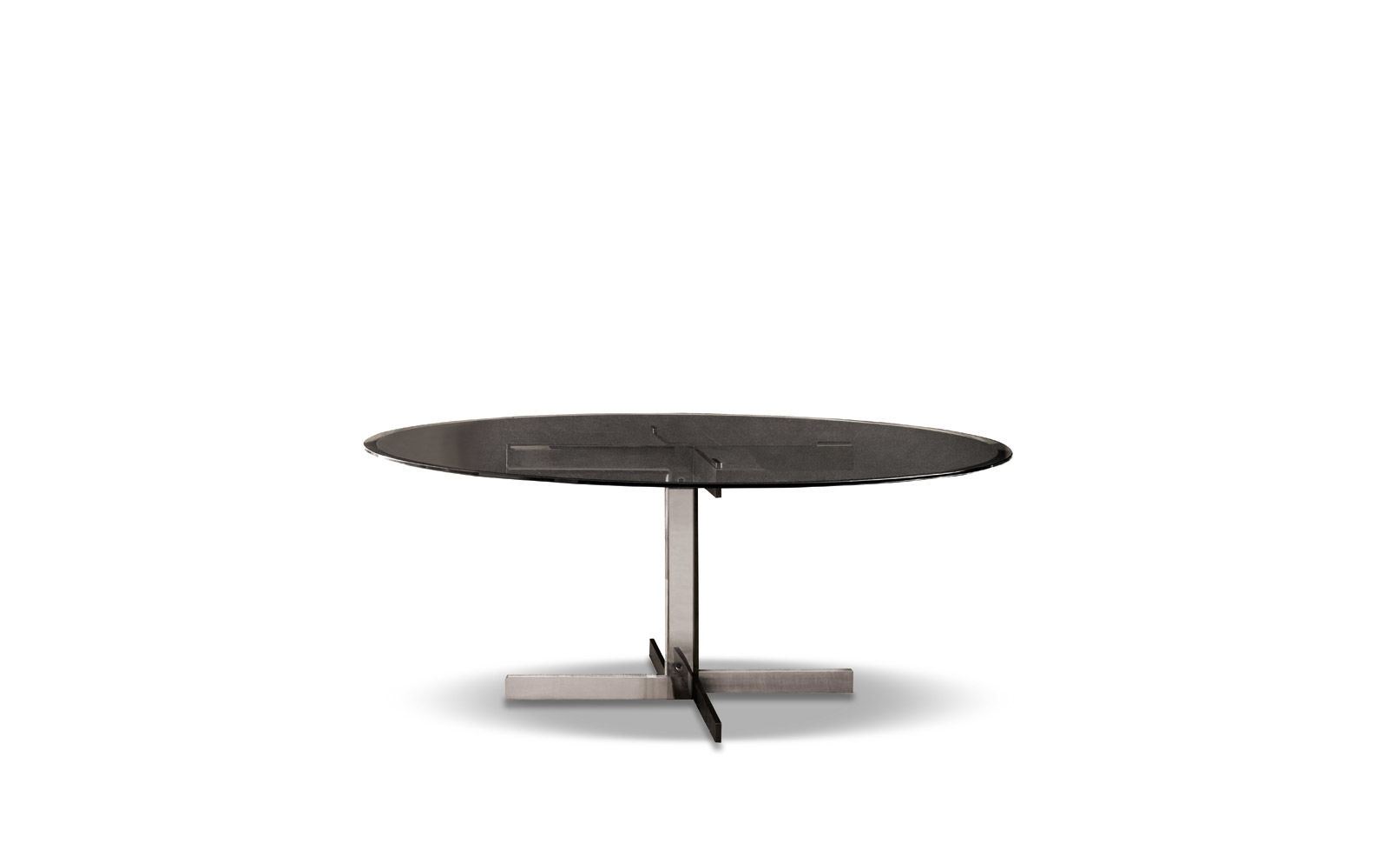 """Catlin """"dining"""" Table Pertaining To Most Popular Smoked Oval Glasstop Dining Tables (View 10 of 25)"""