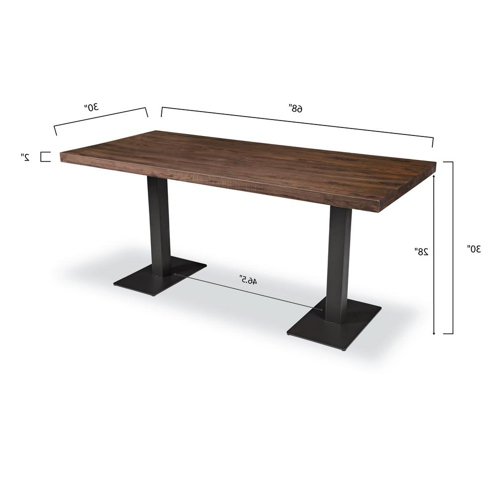 Charcoal Transitional 6 Seating Rectangular Dining Tables Inside Most Up To Date Poly And Bark Sloane  (View 22 of 25)