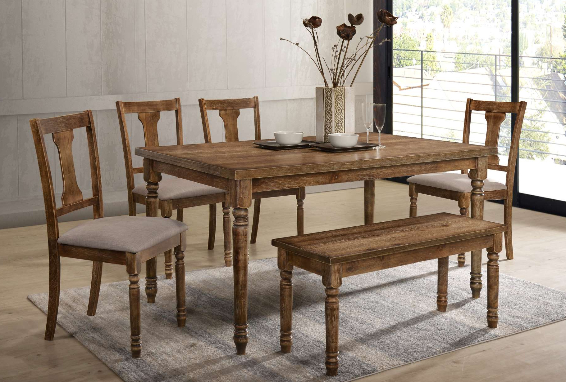 Charcoal Transitional 6 Seating Rectangular Dining Tables Pertaining To Trendy Furniture Clearance Center (View 9 of 25)