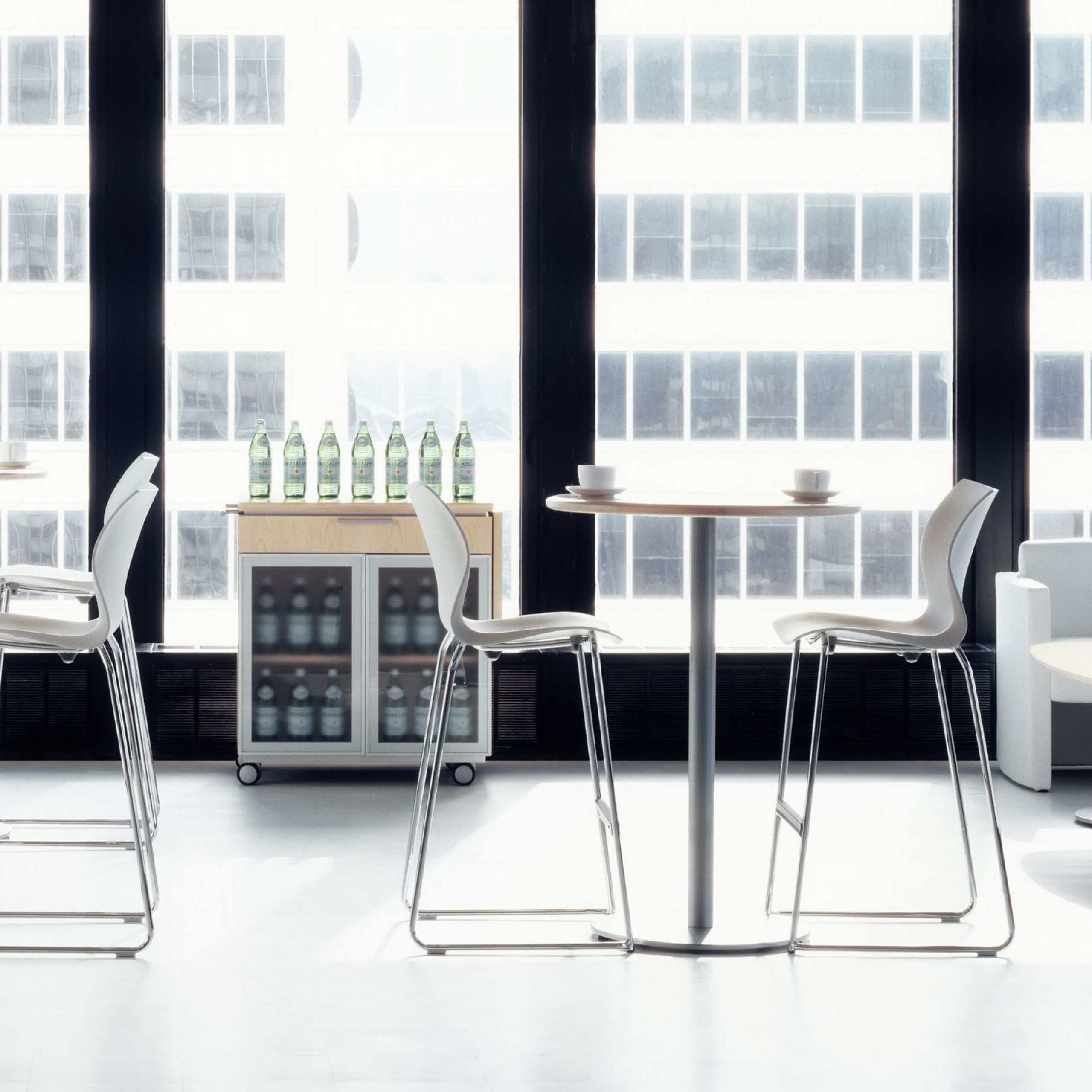 Chrome Contemporary Square Casual Dining Tables Inside Most Recently Released Contemporary High Bar Table / Mdf / Wood Veneer / Laminate (View 20 of 25)