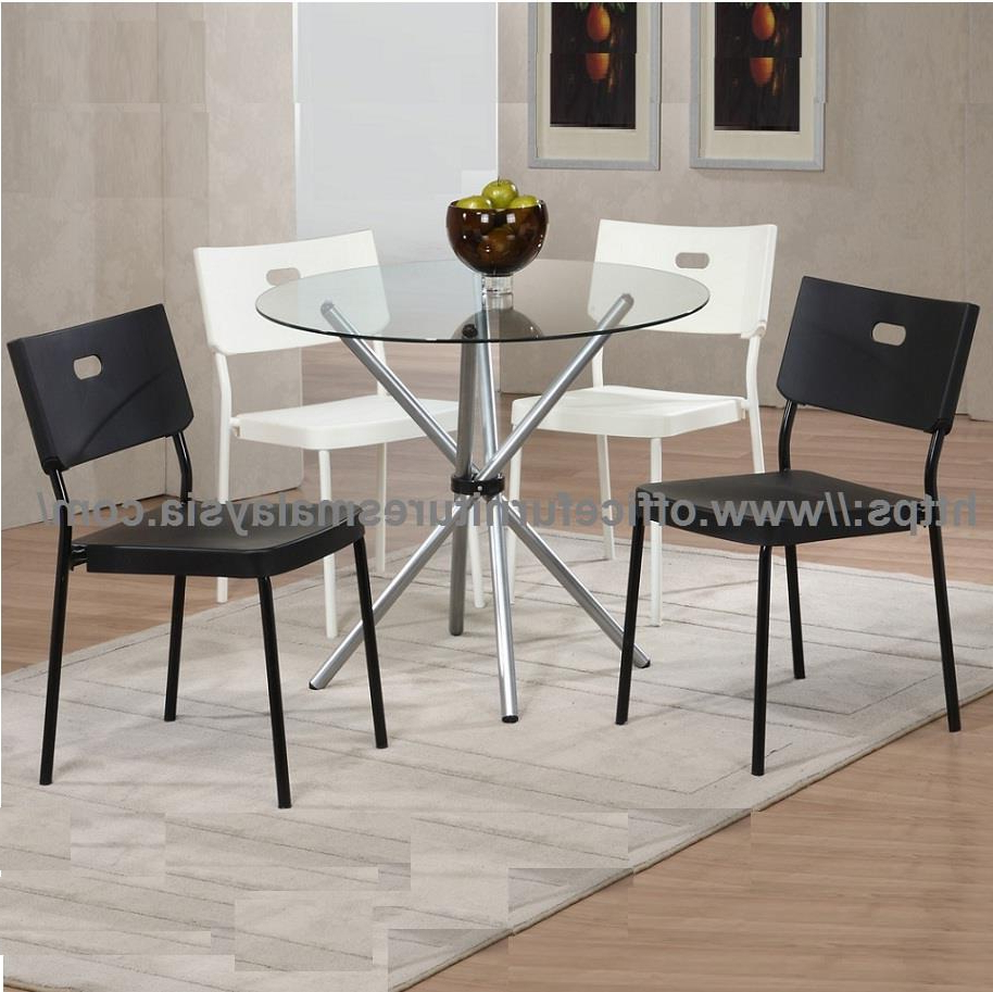 Chrome Dining Tables With Tempered Glass In Current Tempered Glass Top Dining Table With Chrome Ygcdt8479T Klang Valley (View 22 of 25)