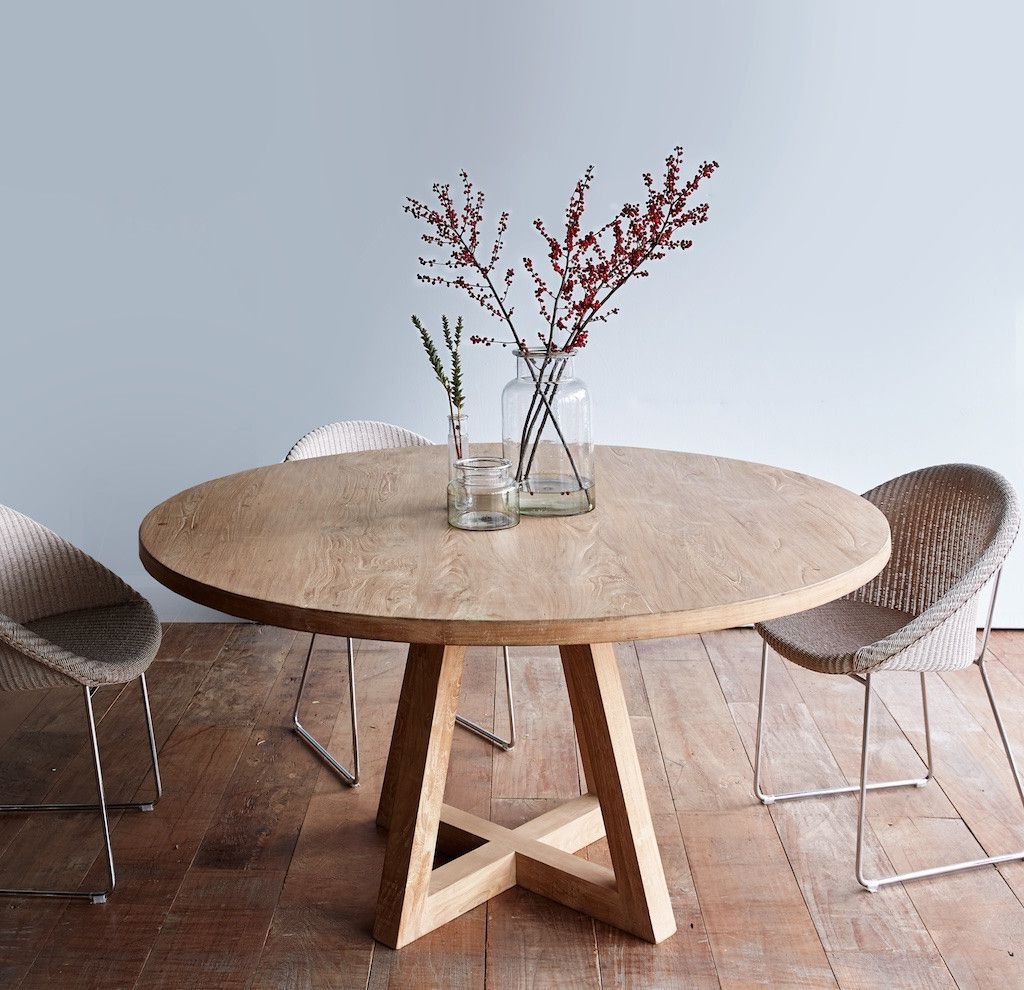 Circular Dining Table, Wooden (View 3 of 25)