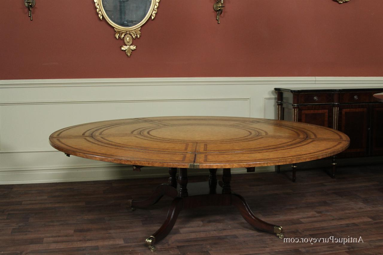 Contemporary Large Round Dining Table Seat 10 Maitland Smith Regarding Most Up To Date 8 Seater Wood Contemporary Dining Tables With Extension Leaf (View 4 of 25)