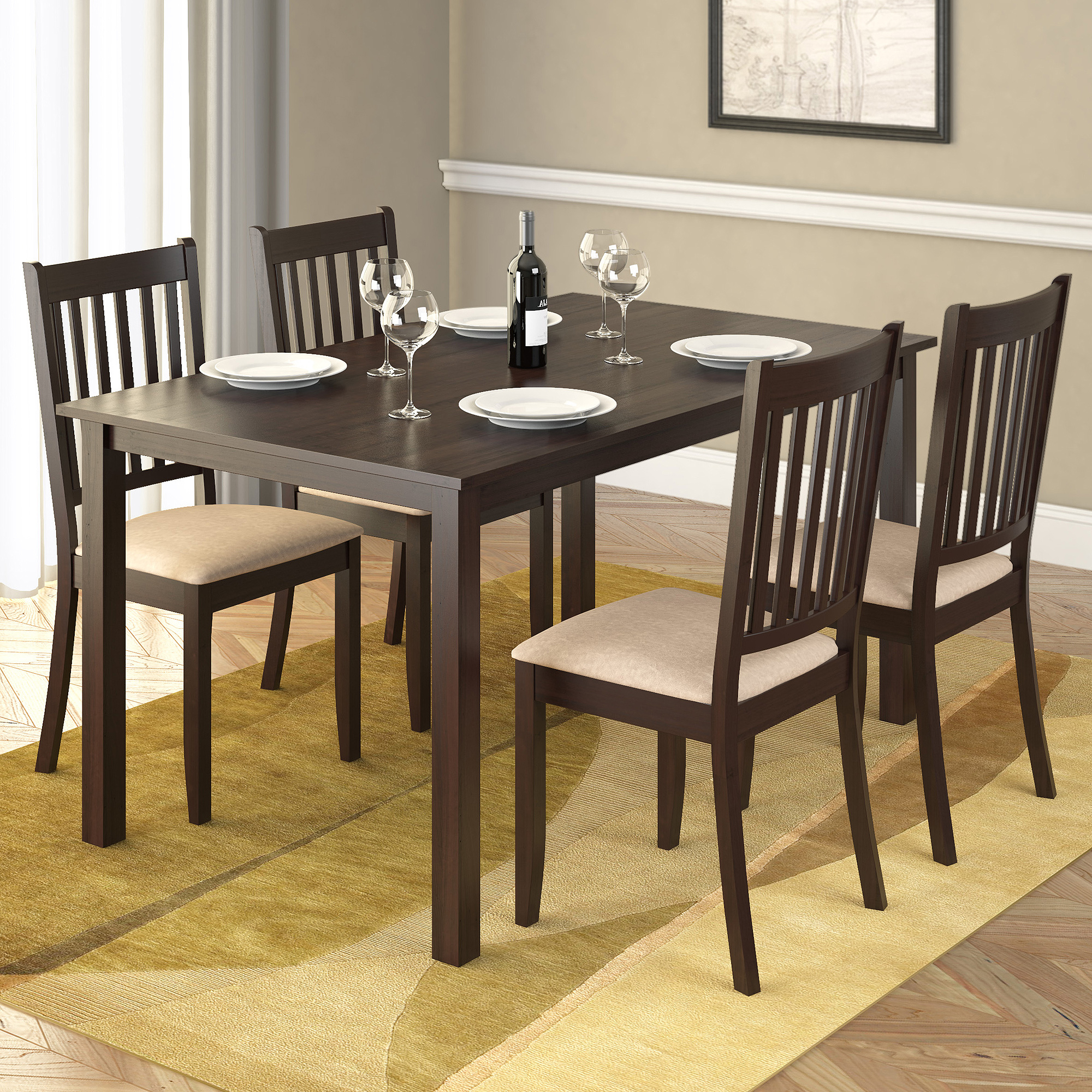 """Corliving Atwood 55"""" Dining Table, Cappuccino – Walmart With Newest Atwood Transitional Rectangular Dining Tables (View 13 of 25)"""