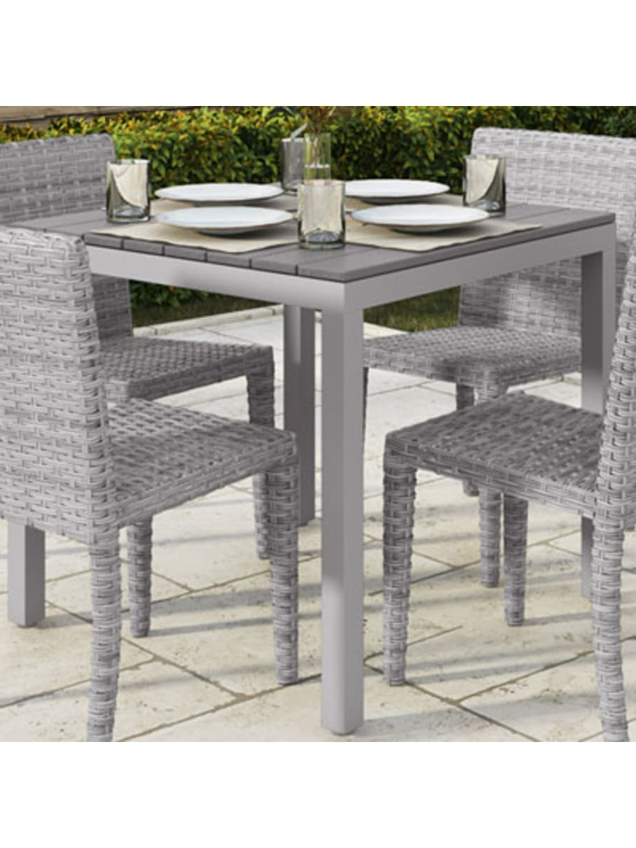 Corliving Brisbane Contemporary 4 Seating Square Outdoor Throughout Best And Newest Contemporary 4 Seating Square Dining Tables (View 8 of 25)