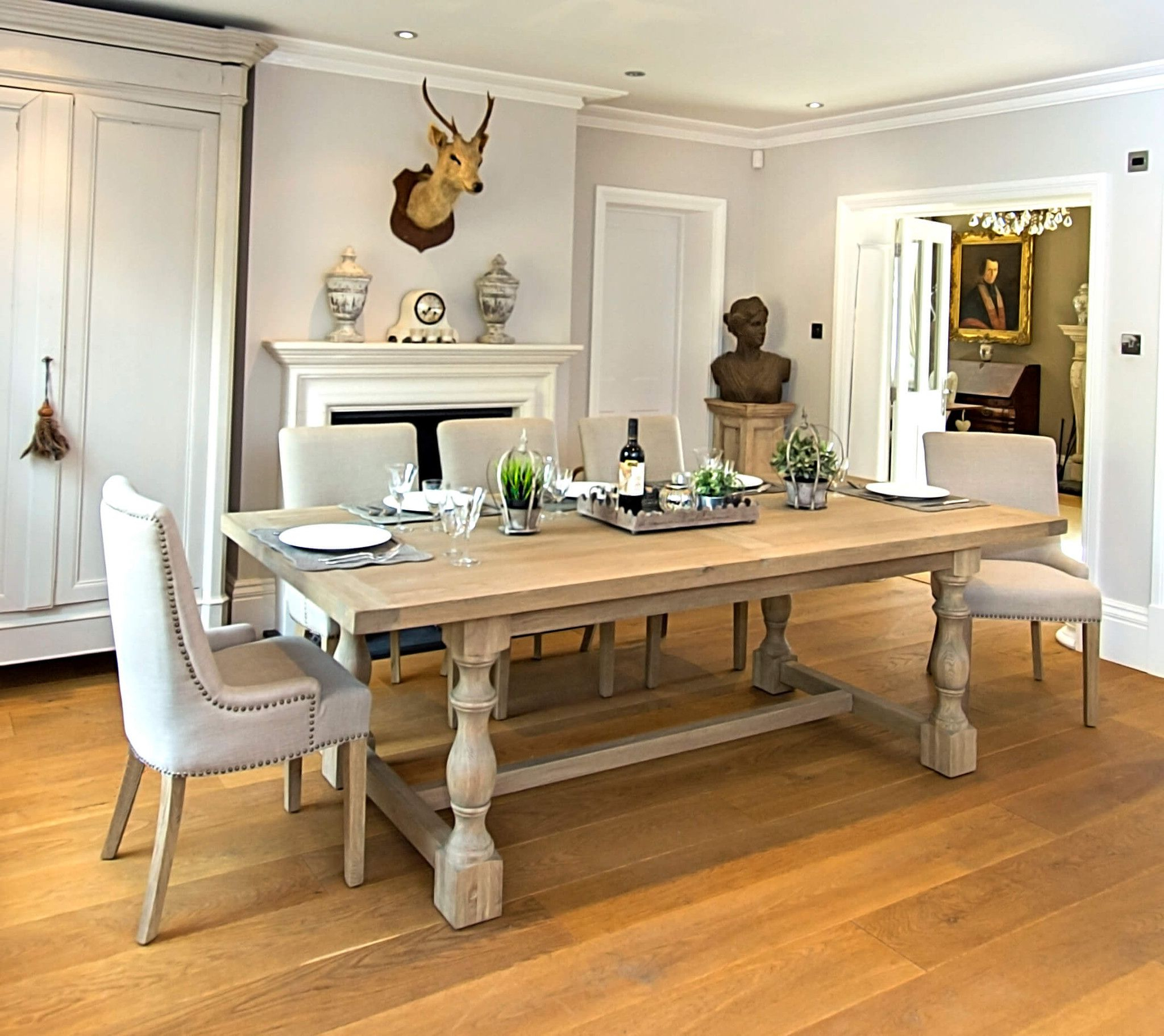 Country Dining Tables With Weathered Pine Finish With Regard To Latest Montague Large Weathered Oak Rectangular Dining Table – La (View 8 of 25)
