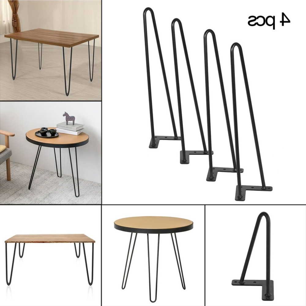 Current 18 Inch 10Mm Heavy Duty Angled Design Dining Table Desk Regarding Dining Tables With Black U Legs (View 17 of 25)