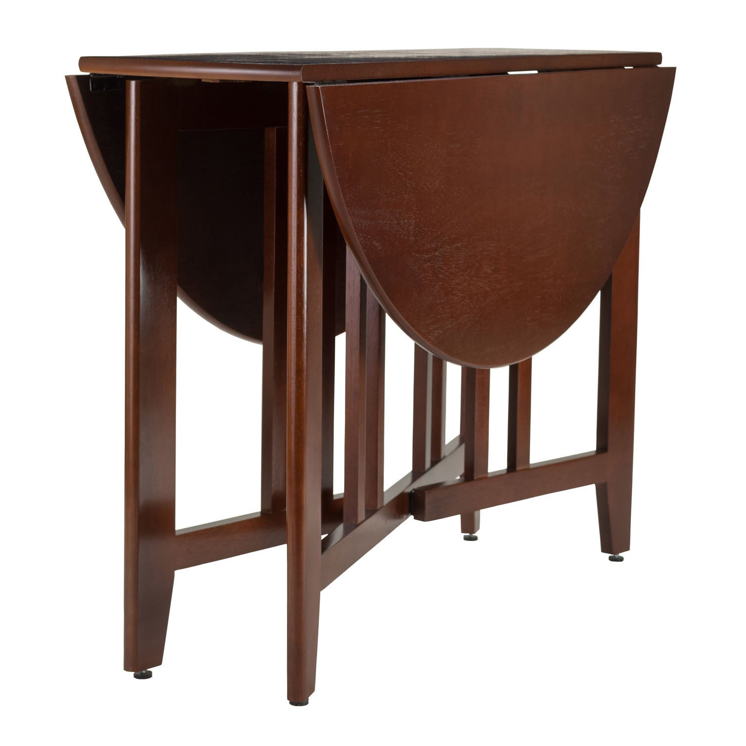 """Current Alamo Double Drop Leaf Round 42"""" Table Mission – N/a Inside Alamo Transitional 4 Seating Double Drop Leaf Round Casual Dining Tables (View 14 of 26)"""