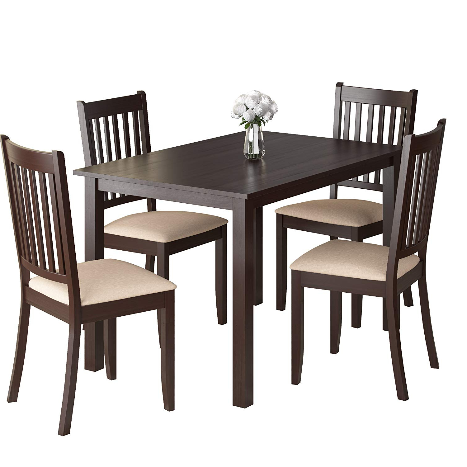Current Atwood Transitional Square Dining Tables Regarding Amazon – Corliving Drg 595 Z Atwood Dining Set, Brown (View 14 of 25)