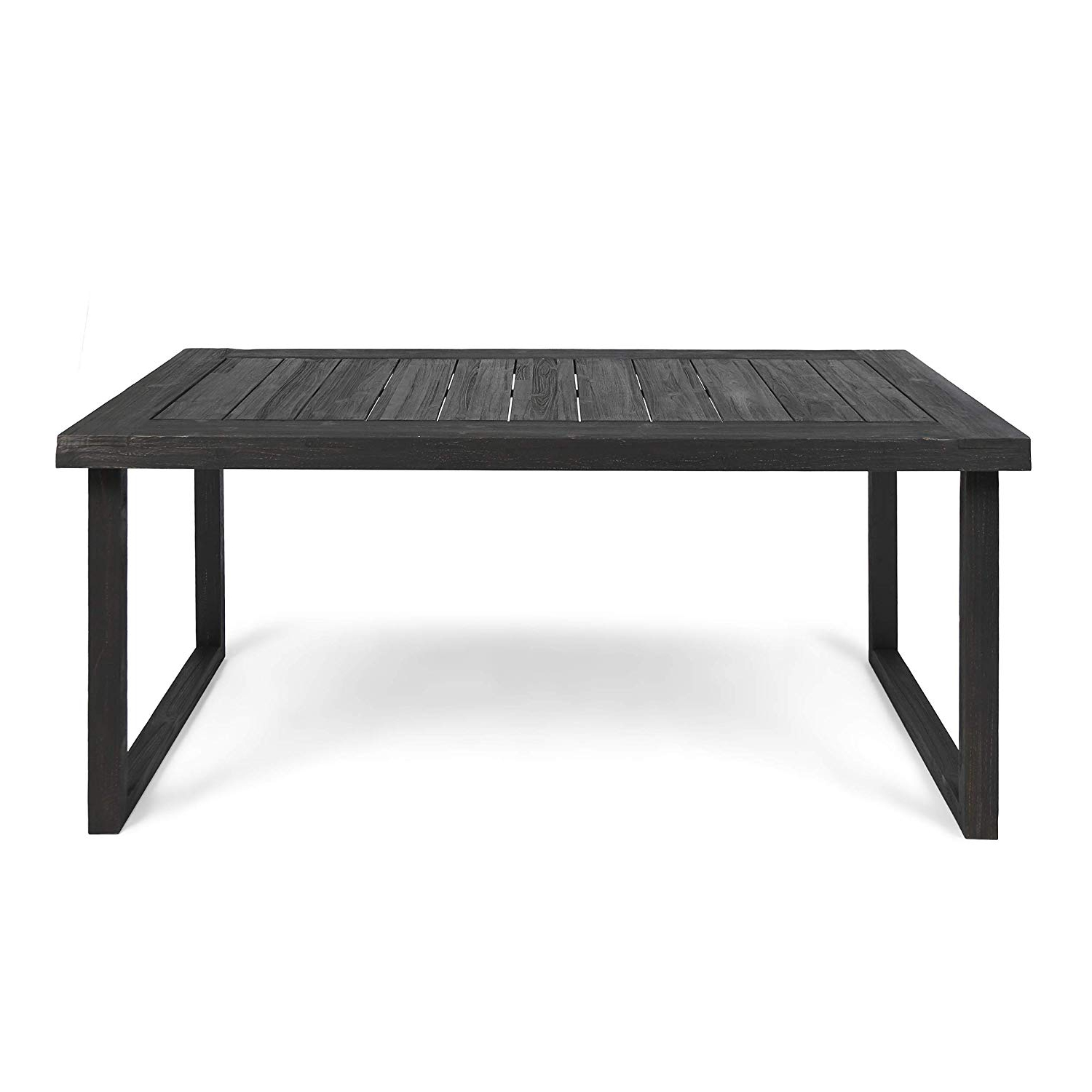 """Current Christopher Knight Home Ann Outdoor 69"""" Acacia Wood Dining Table, Sandblast Dark Gray Finish Pertaining To Acacia Dining Tables With Black Legs (View 16 of 25)"""