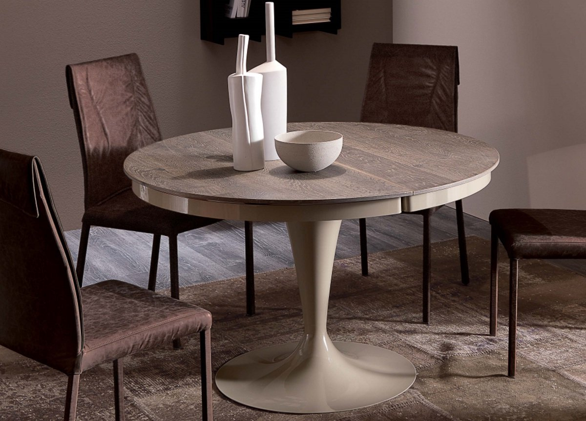 Current Ozzio Eclipse Extending Dining Table In Wood With Eclipse Dining Tables (View 8 of 25)